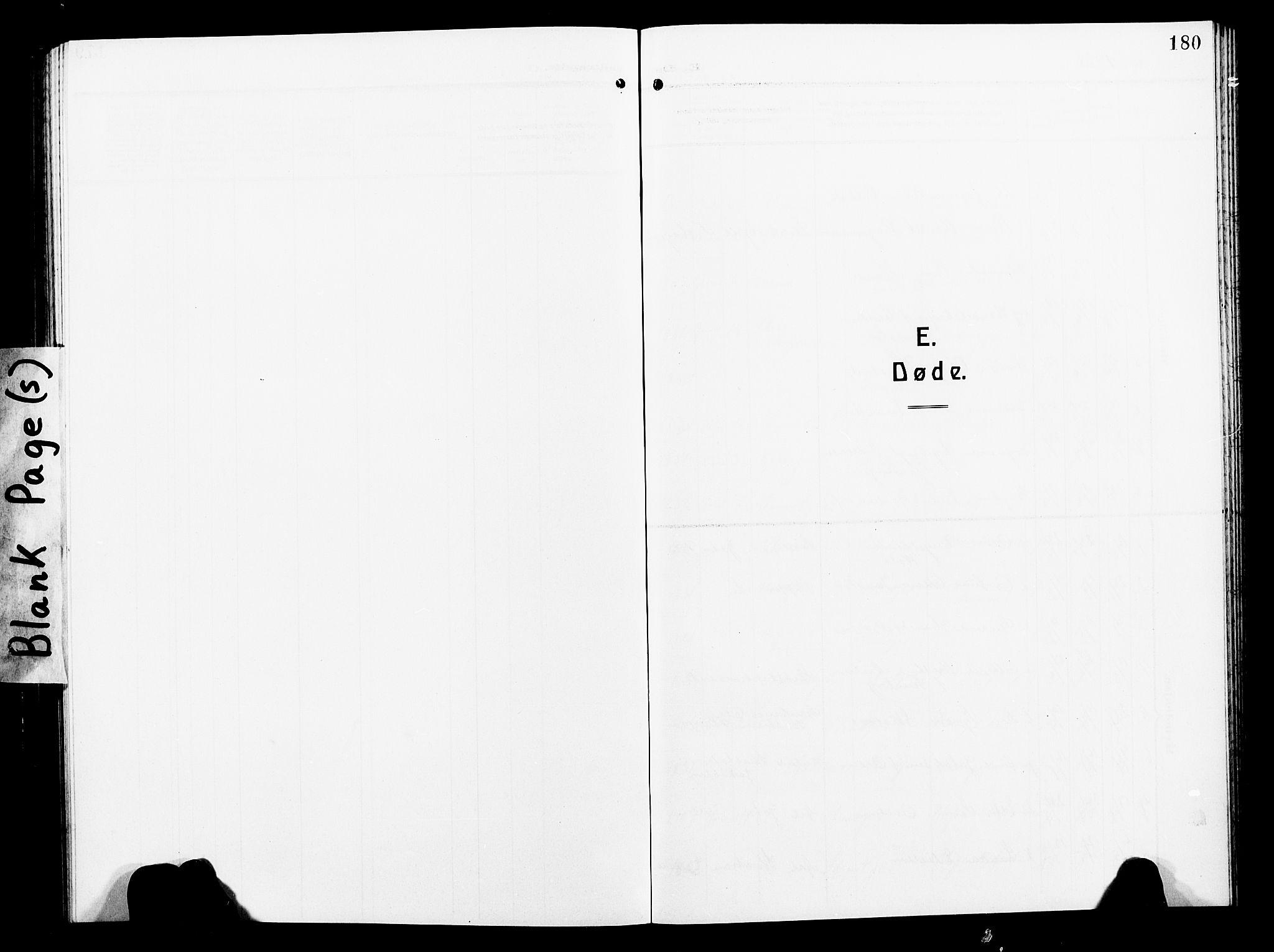 SAT, Ministerialprotokoller, klokkerbøker og fødselsregistre - Nord-Trøndelag, 739/L0376: Klokkerbok nr. 739C04, 1908-1917, s. 180