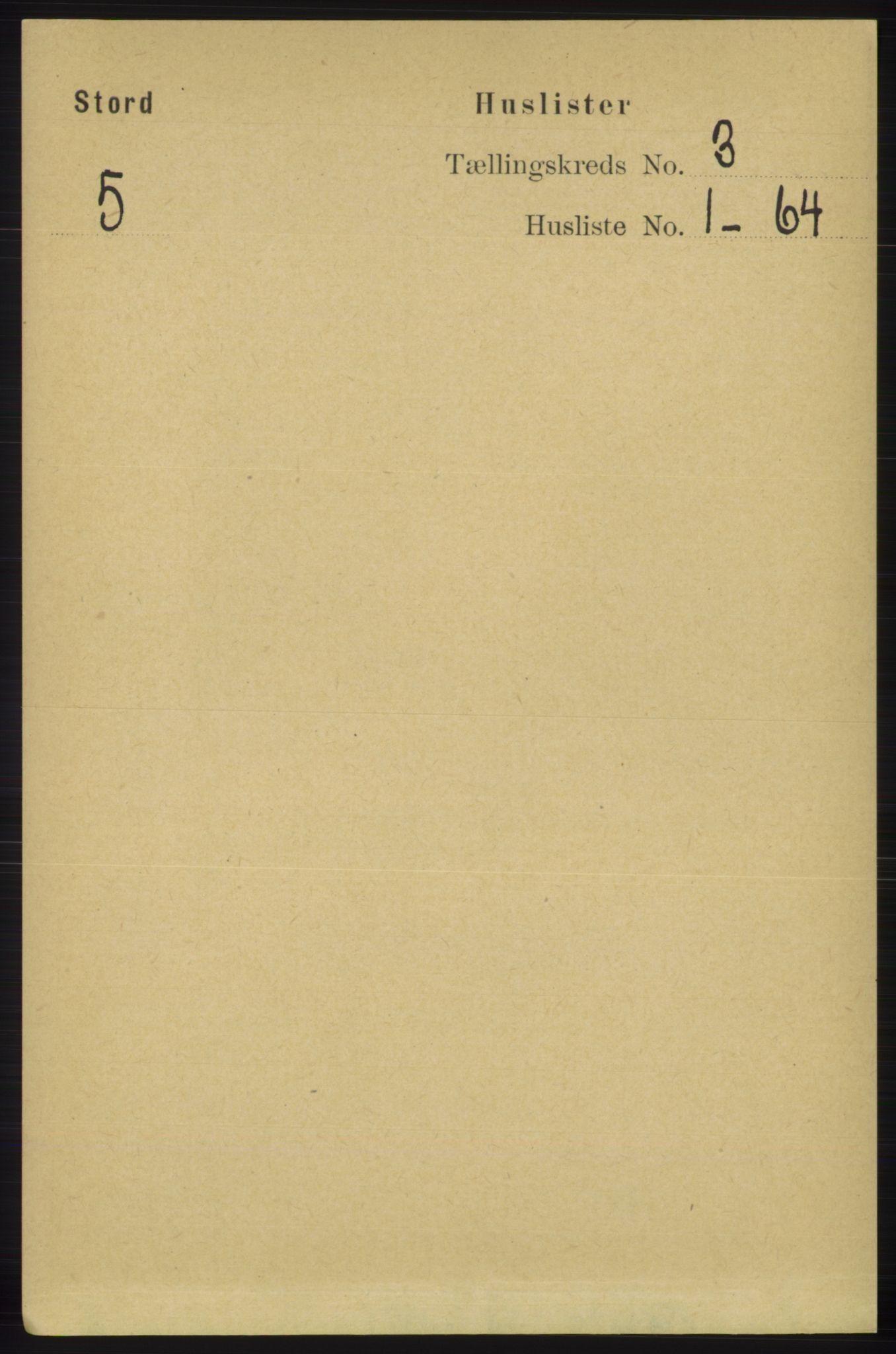 RA, Folketelling 1891 for 1221 Stord herred, 1891, s. 466