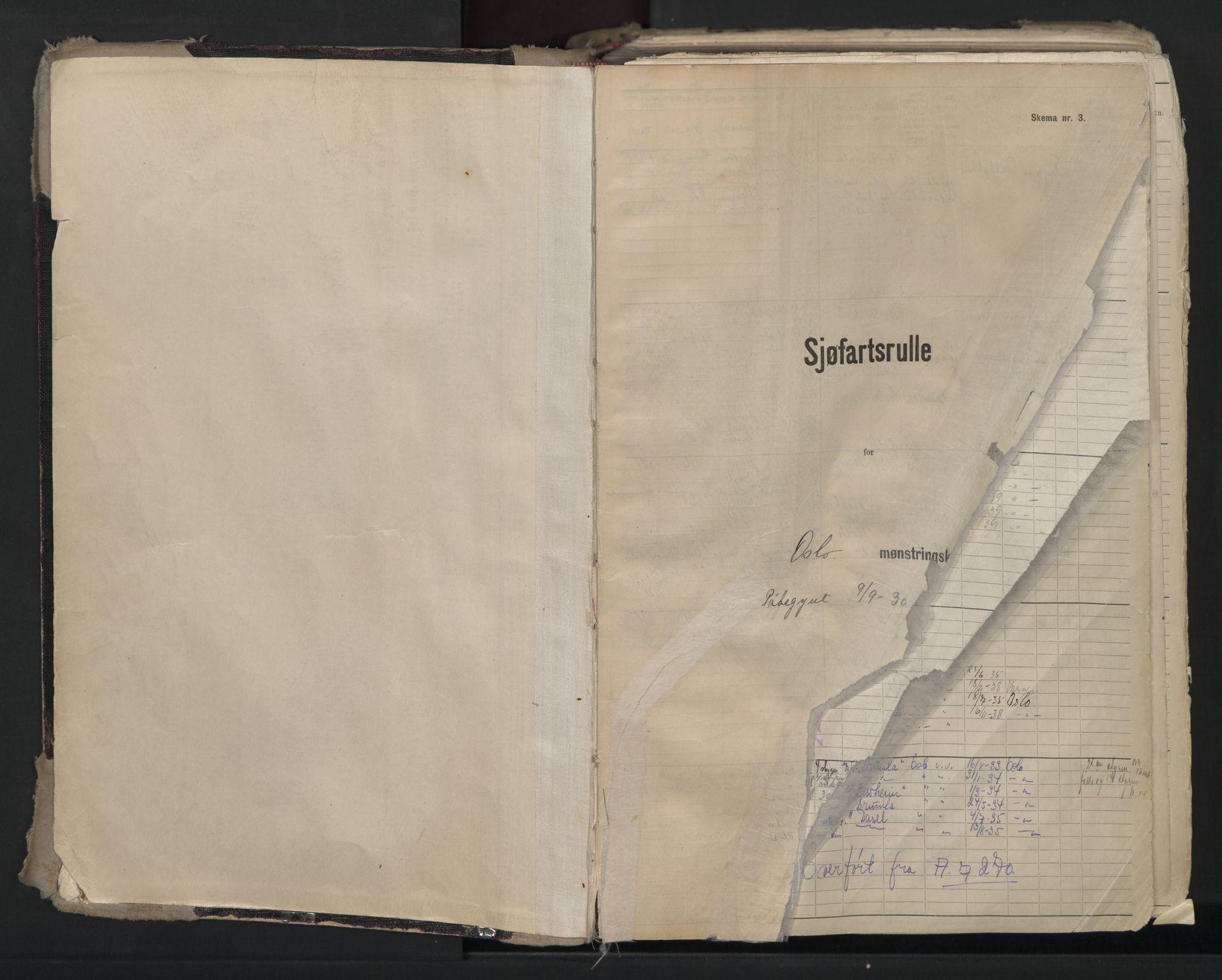 SAO, Oslo sjømannskontor, F/Fc/L0007: Hovedrulle, 1930-1948, s. 3