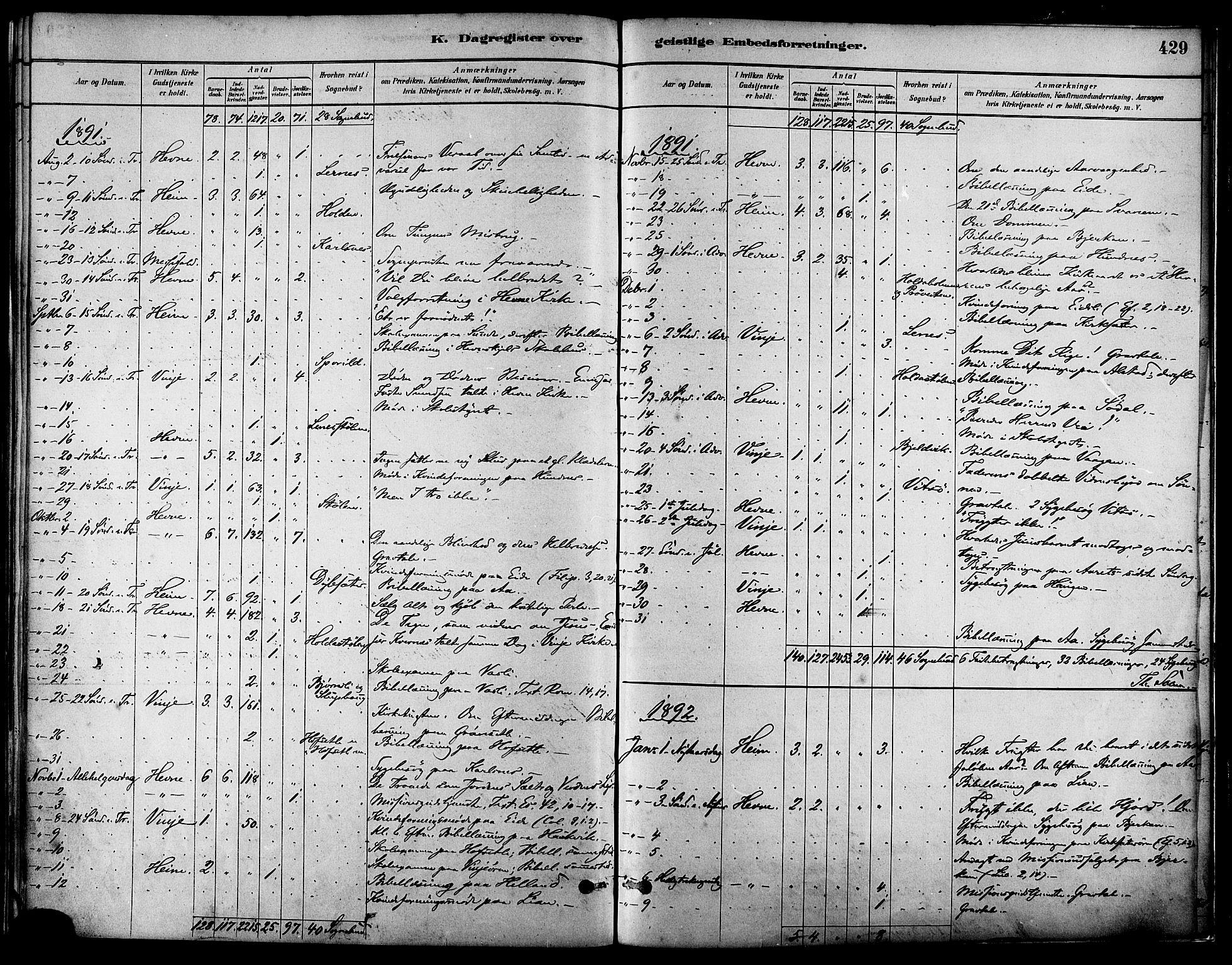 SAT, Ministerialprotokoller, klokkerbøker og fødselsregistre - Sør-Trøndelag, 630/L0496: Ministerialbok nr. 630A09, 1879-1895, s. 429