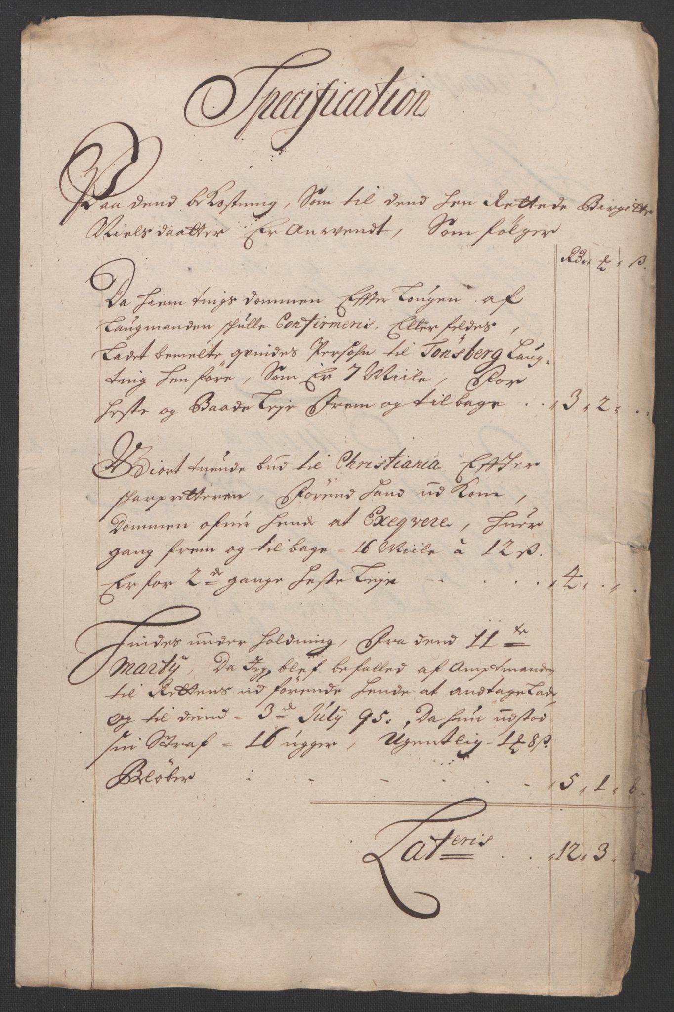 RA, Rentekammeret inntil 1814, Reviderte regnskaper, Fogderegnskap, R07/L0285: Fogderegnskap Rakkestad, Heggen og Frøland, 1695, s. 331