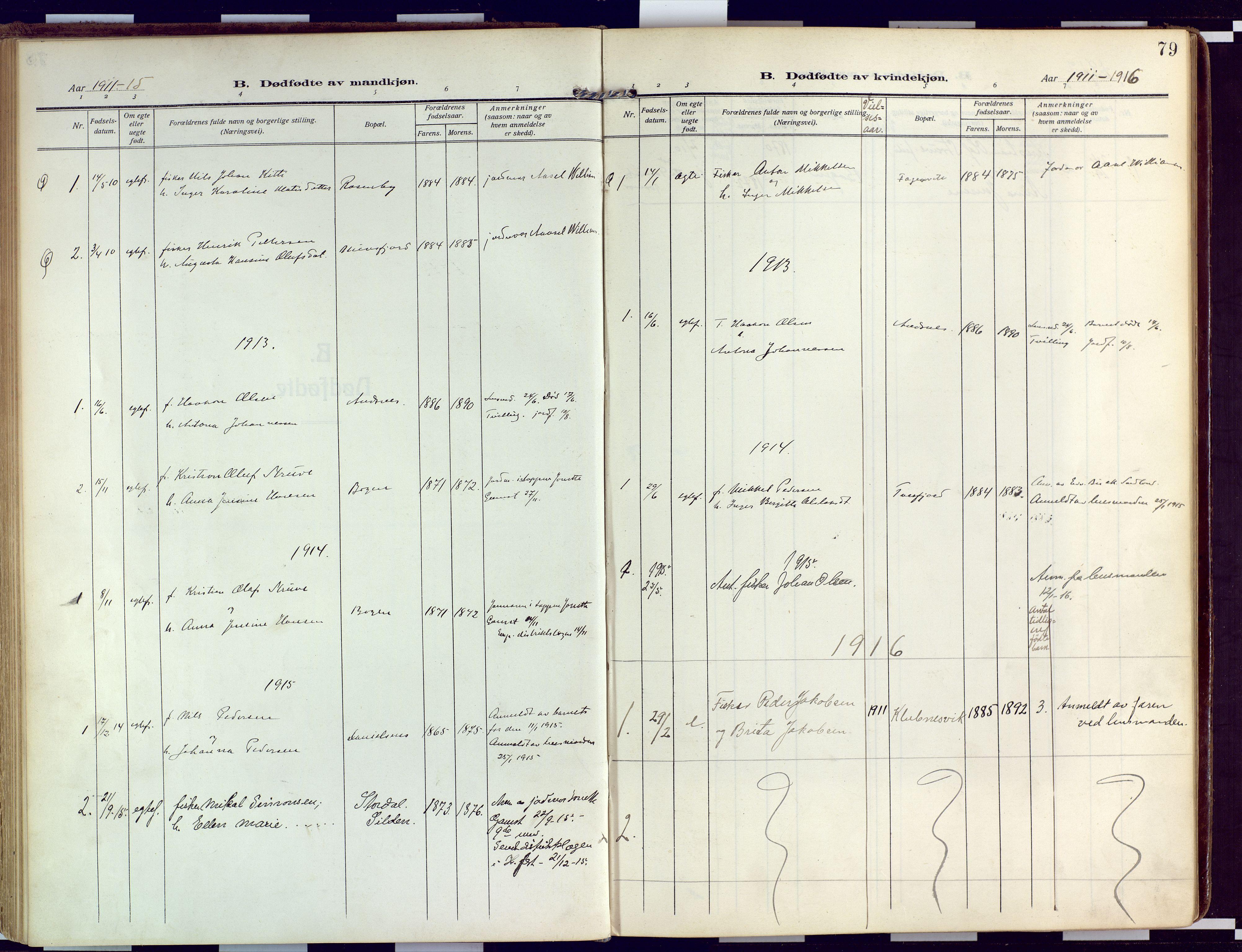 SATØ, Loppa sokneprestkontor, H/Ha/L0011kirke: Ministerialbok nr. 11, 1909-1919, s. 79