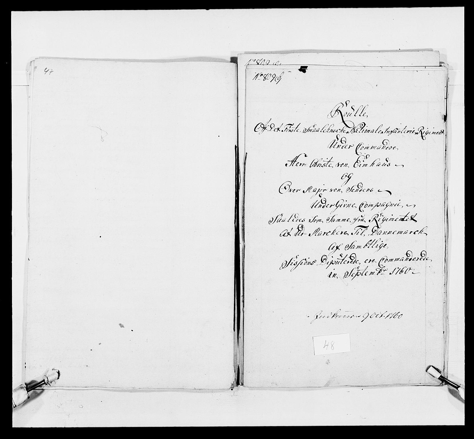 RA, Kommanderende general (KG I) med Det norske krigsdirektorium, E/Ea/L0495: 1. Smålenske regiment, 1732-1763, s. 643