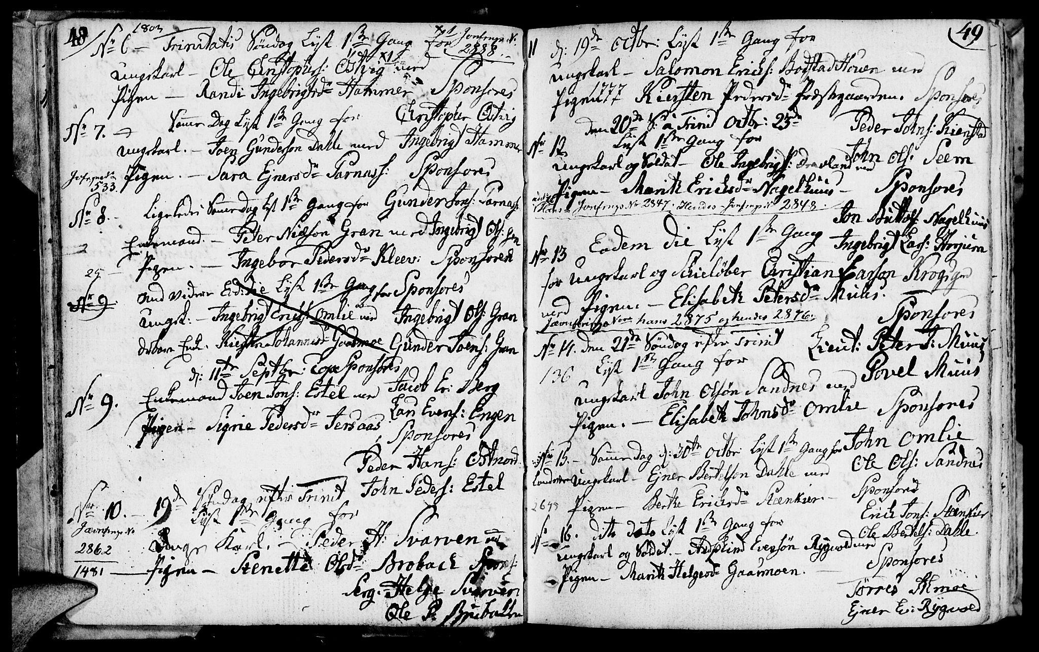 SAT, Ministerialprotokoller, klokkerbøker og fødselsregistre - Nord-Trøndelag, 749/L0468: Ministerialbok nr. 749A02, 1787-1817, s. 48-49