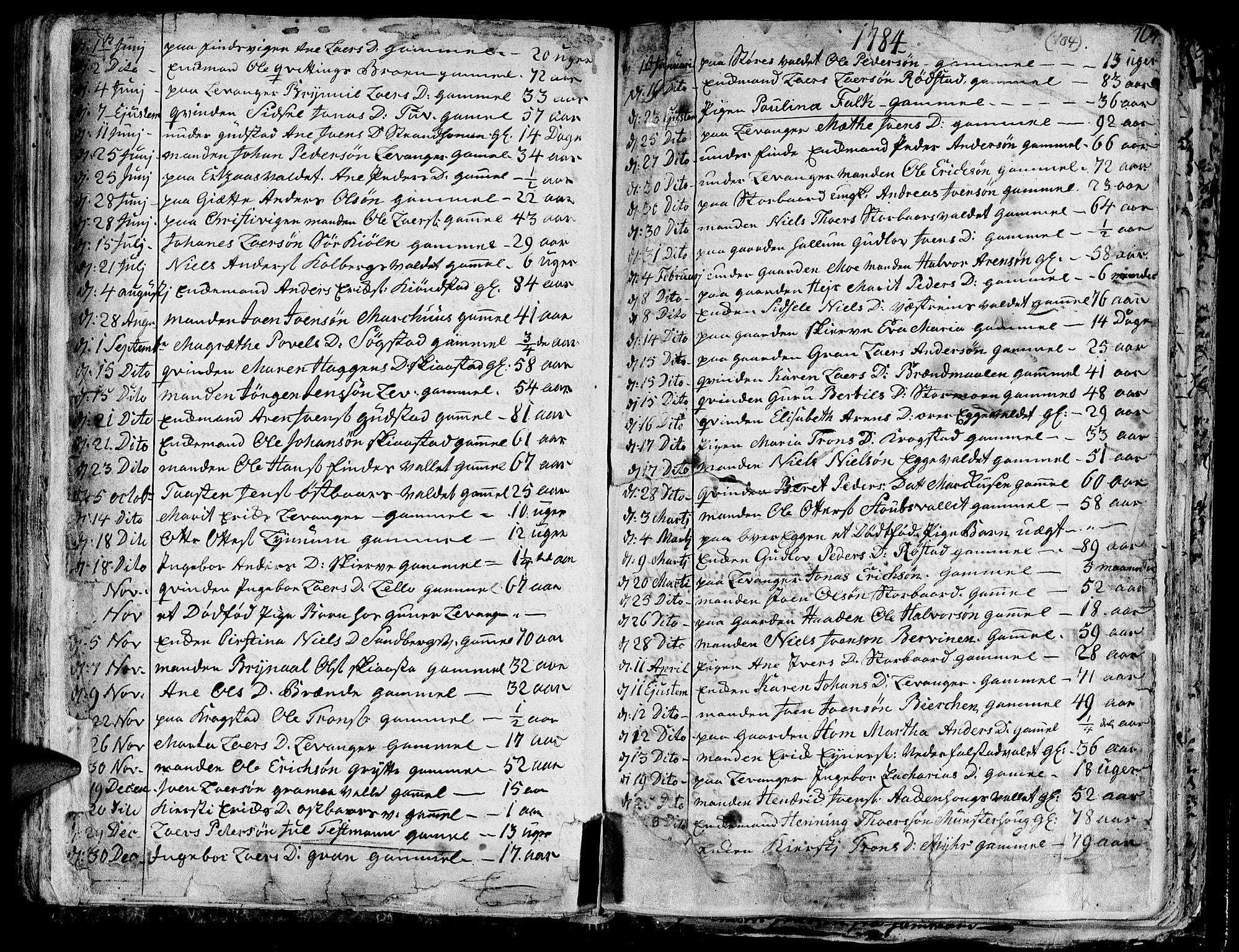 SAT, Ministerialprotokoller, klokkerbøker og fødselsregistre - Nord-Trøndelag, 717/L0142: Ministerialbok nr. 717A02 /1, 1783-1809, s. 104