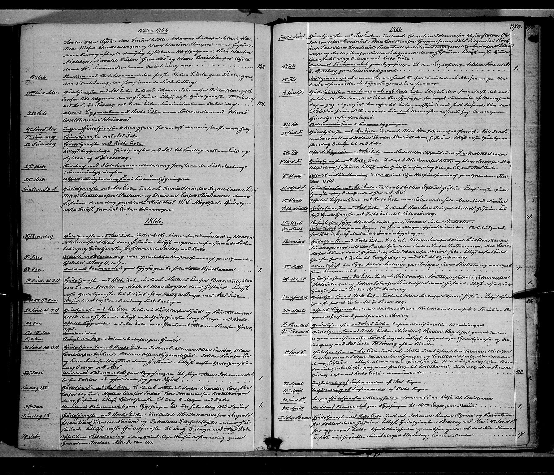 SAH, Vestre Toten prestekontor, H/Ha/Haa/L0007: Ministerialbok nr. 7, 1862-1869, s. 370