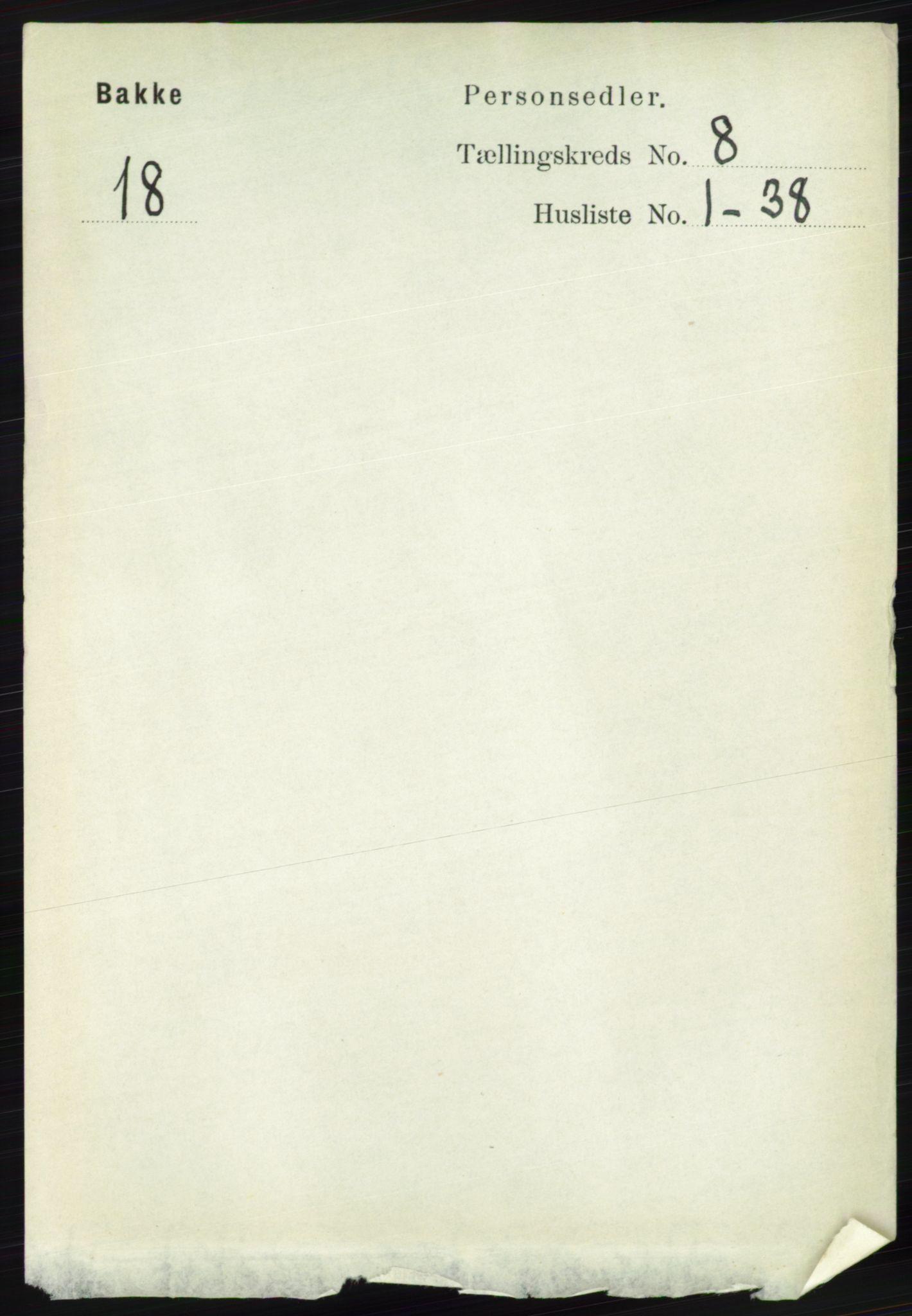 RA, Folketelling 1891 for 1045 Bakke herred, 1891, s. 1483