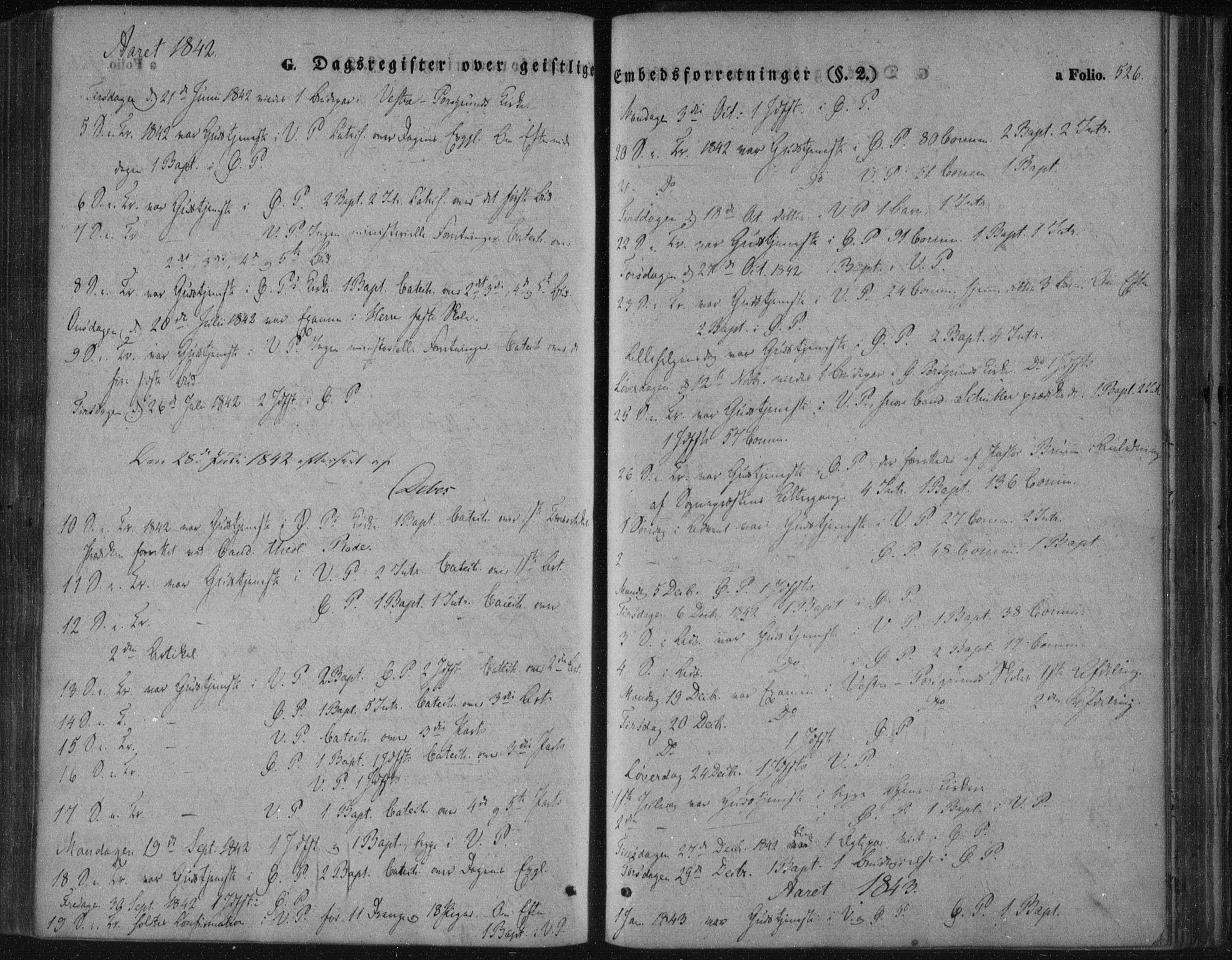 SAKO, Porsgrunn kirkebøker , F/Fa/L0006: Ministerialbok nr. 6, 1841-1857, s. 526