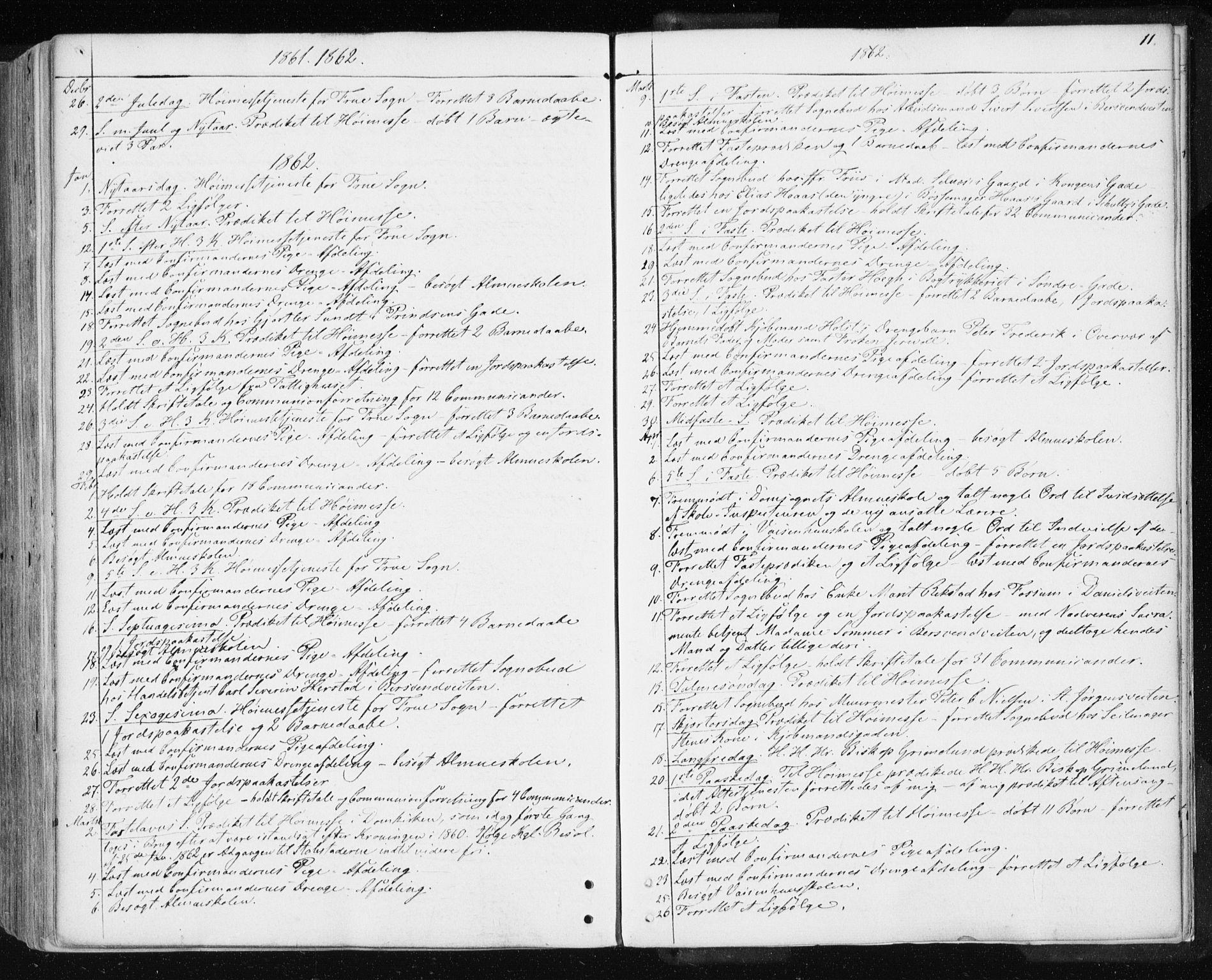 SAT, Ministerialprotokoller, klokkerbøker og fødselsregistre - Sør-Trøndelag, 601/L0053: Ministerialbok nr. 601A21, 1857-1865, s. 11