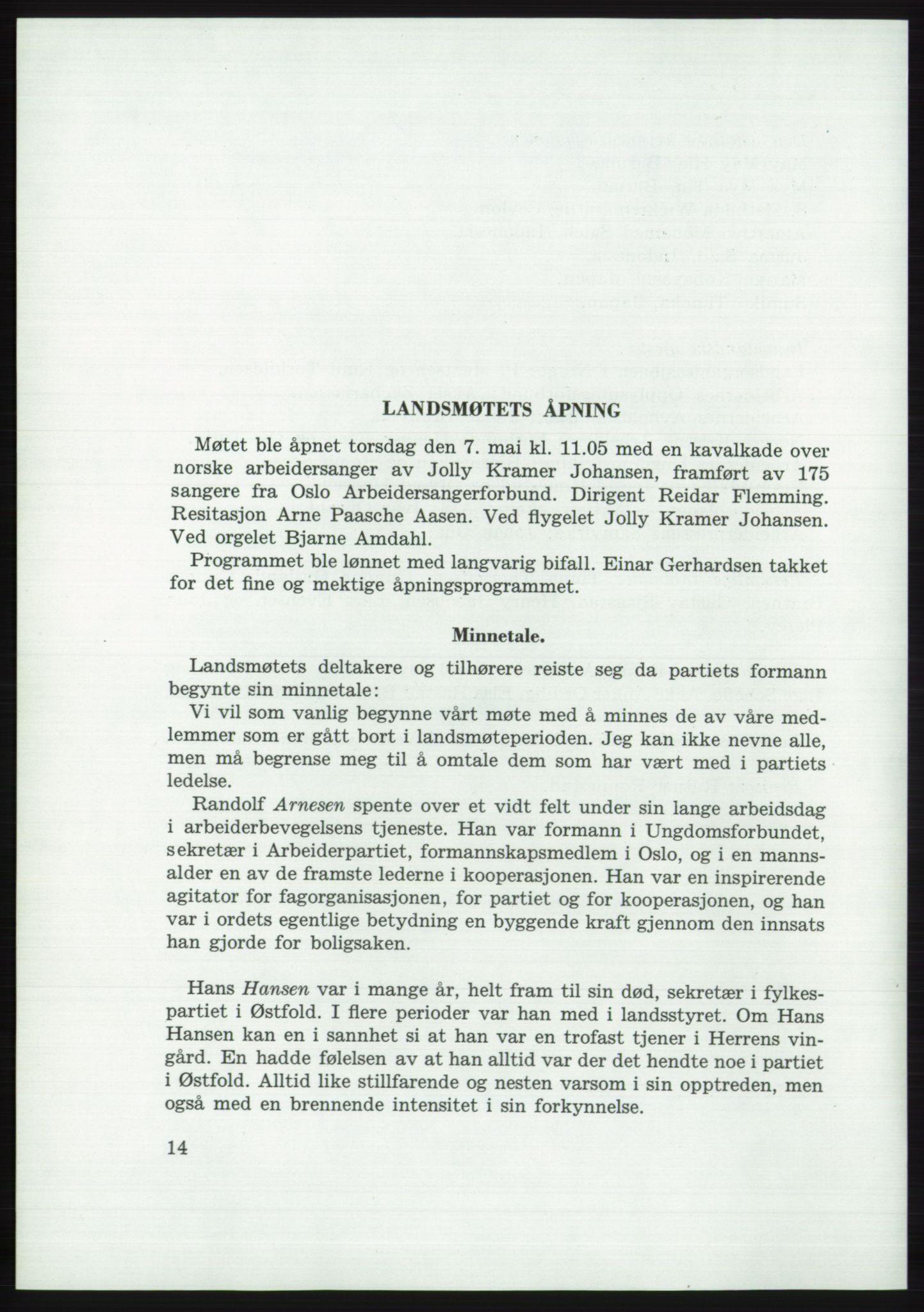 AAB, Det norske Arbeiderparti - publikasjoner, -/-: Protokoll over forhandlingene på det 37. ordinære landsmøte 7.-9. mai 1959 i Oslo, 1959, s. 14