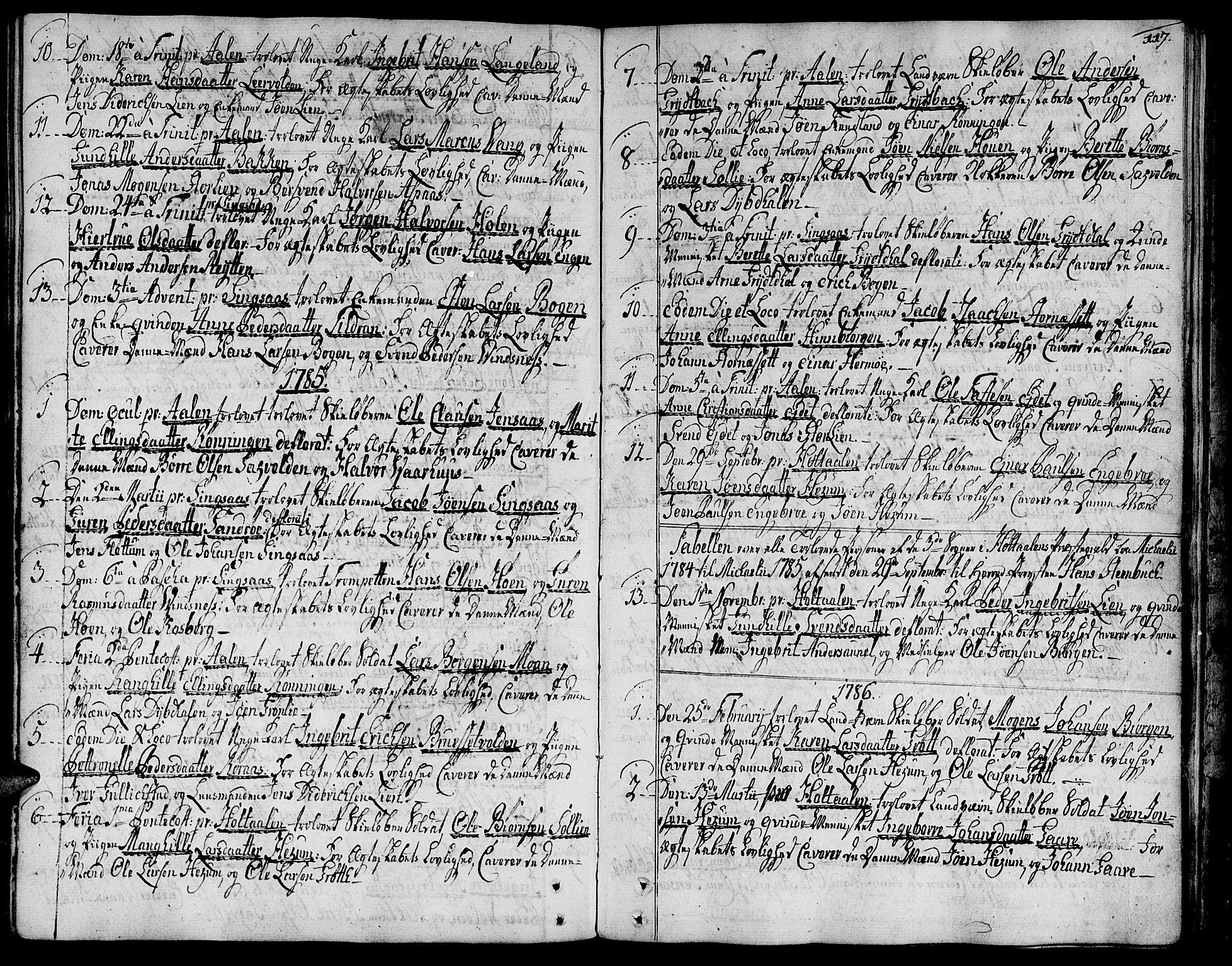 SAT, Ministerialprotokoller, klokkerbøker og fødselsregistre - Sør-Trøndelag, 685/L0952: Ministerialbok nr. 685A01, 1745-1804, s. 117
