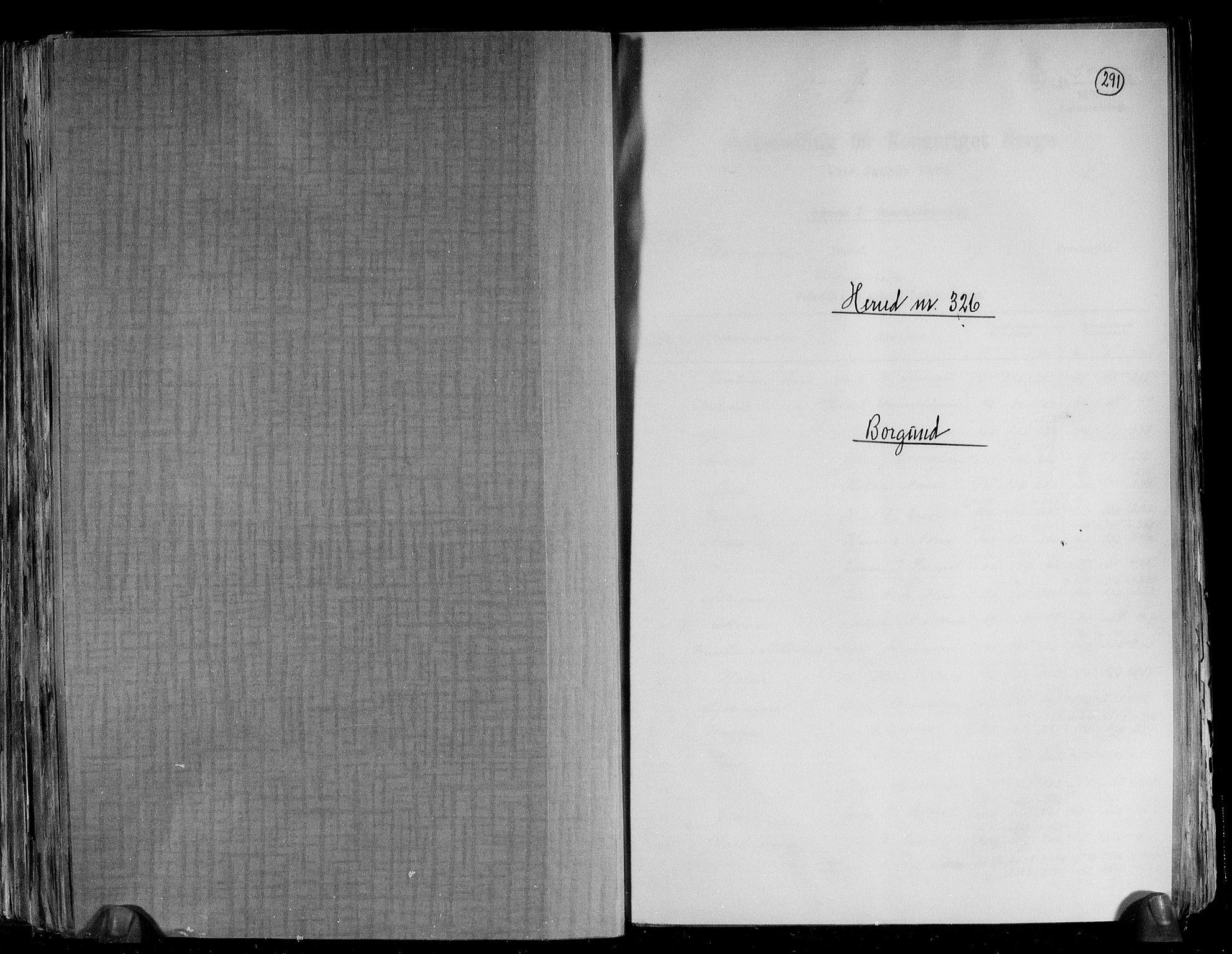 RA, Folketelling 1891 for 1531 Borgund herred, 1891, s. 1