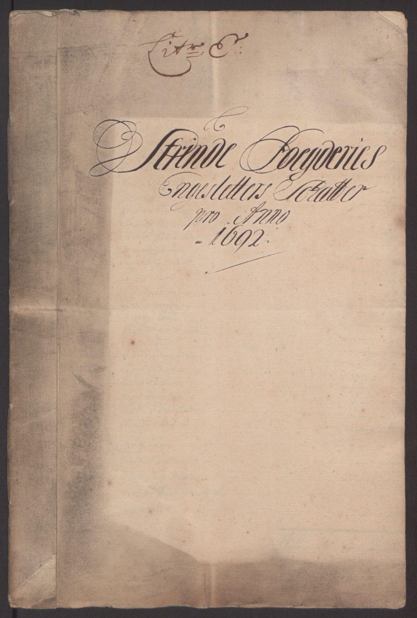 RA, Rentekammeret inntil 1814, Reviderte regnskaper, Fogderegnskap, R61/L4103: Fogderegnskap Strinda og Selbu, 1691-1692, s. 287