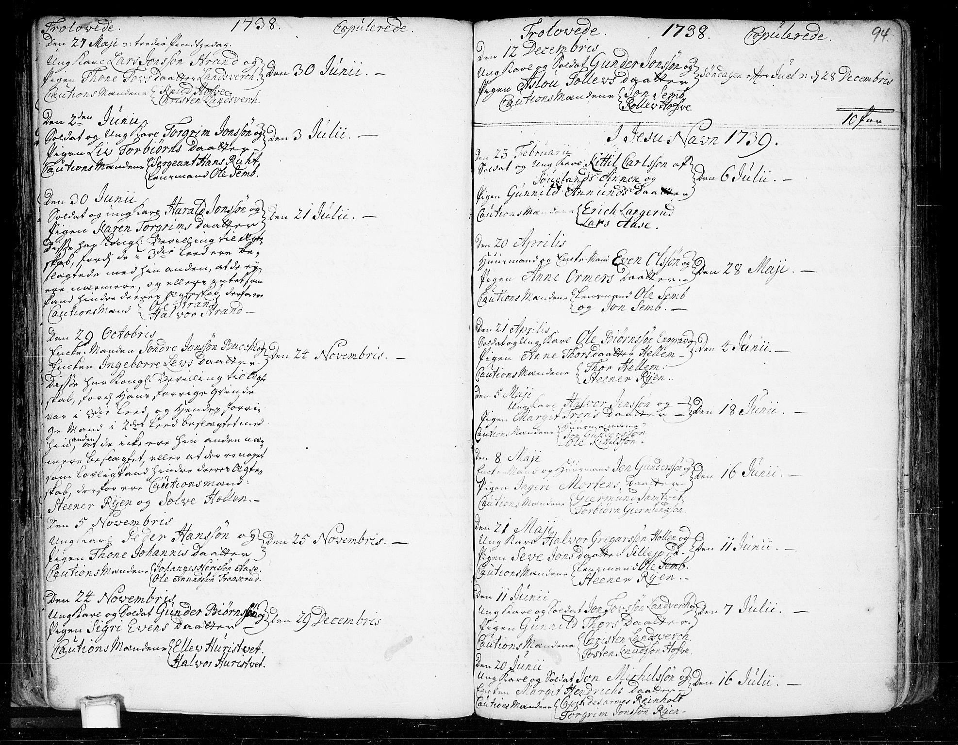 SAKO, Heddal kirkebøker, F/Fa/L0003: Ministerialbok nr. I 3, 1723-1783, s. 94