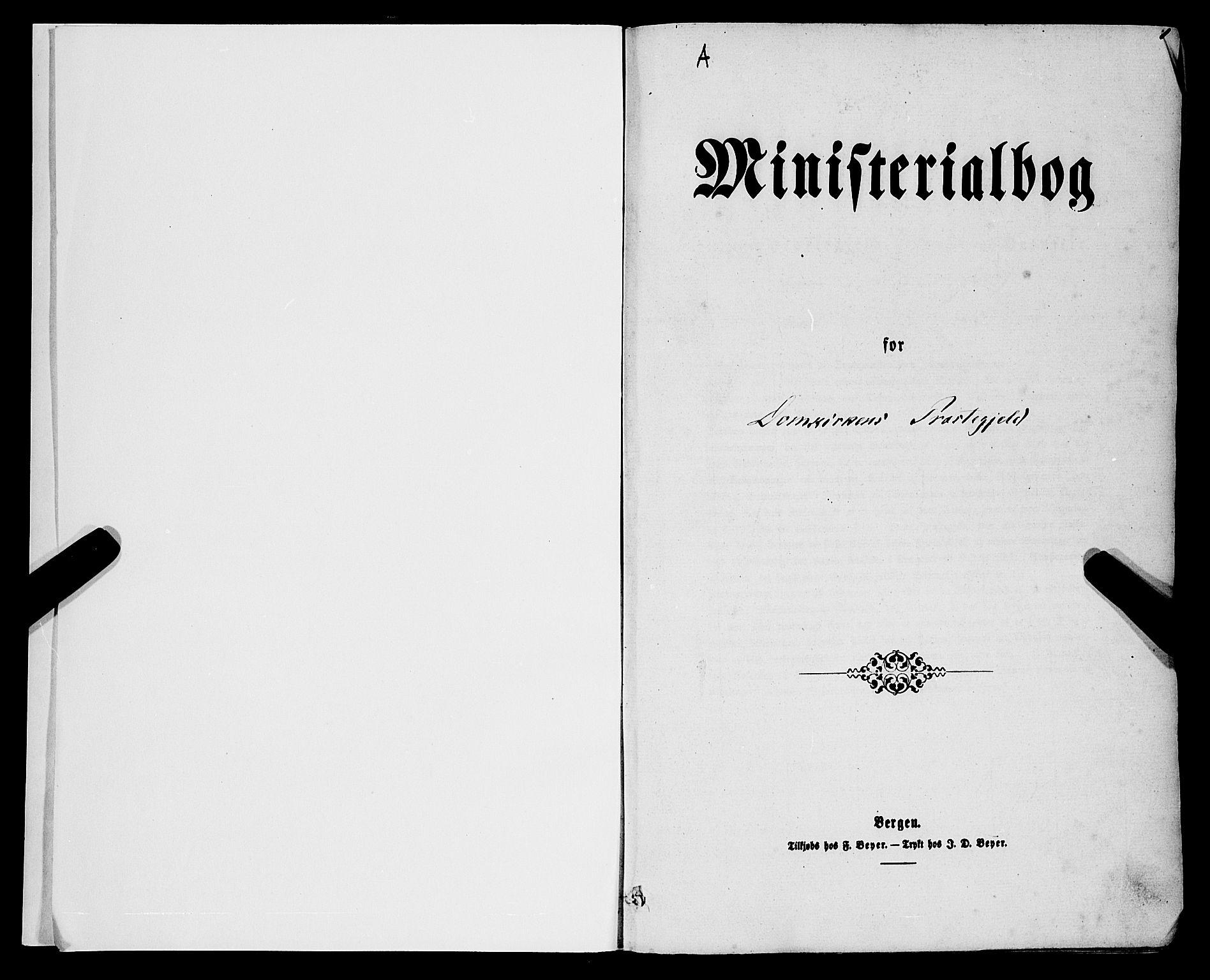 SAB, Domkirken sokneprestembete, H/Haa/L0021: Ministerialbok nr. B 4, 1859-1871, s. 1
