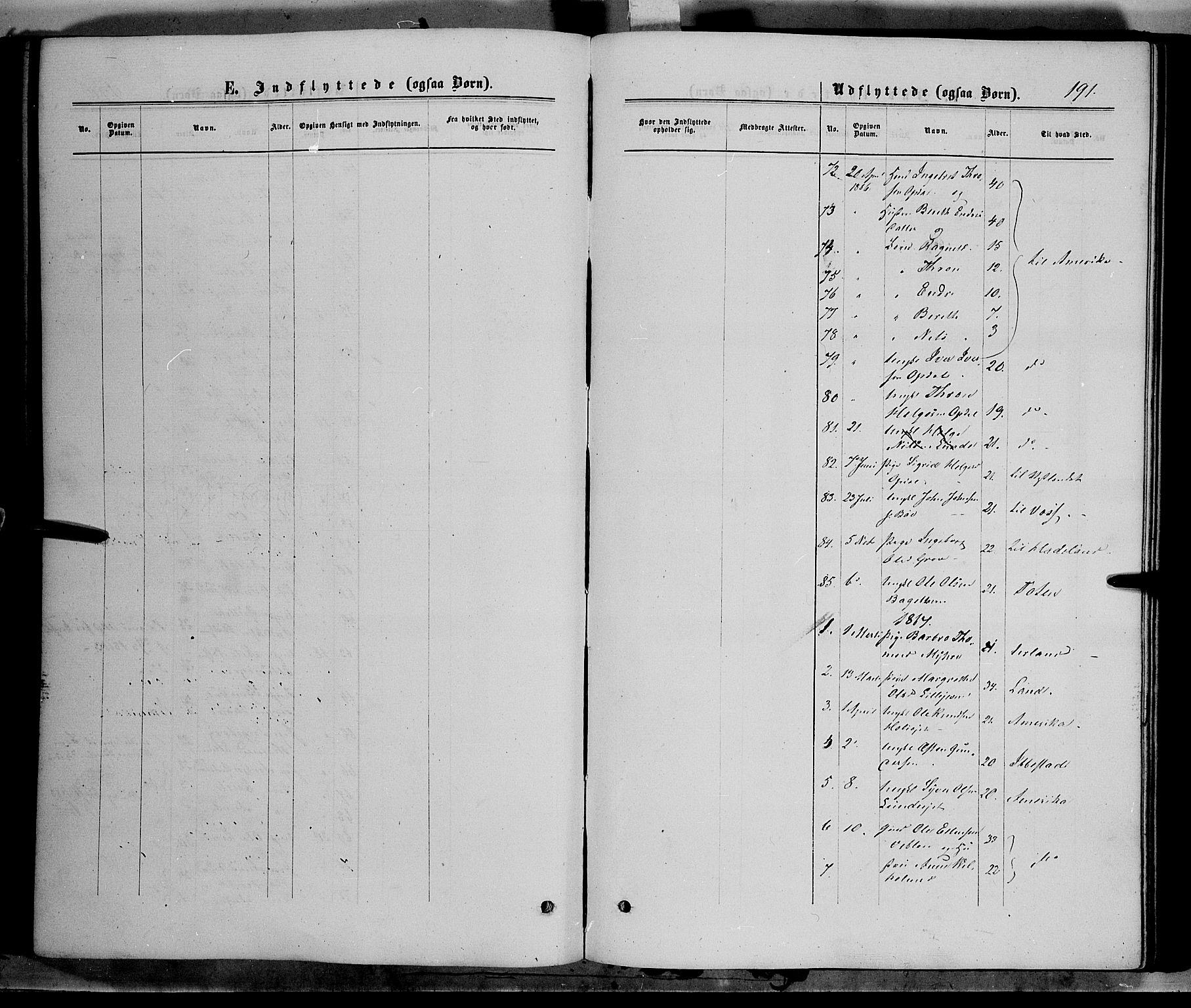SAH, Vang prestekontor, Valdres, Ministerialbok nr. 7, 1865-1881, s. 191
