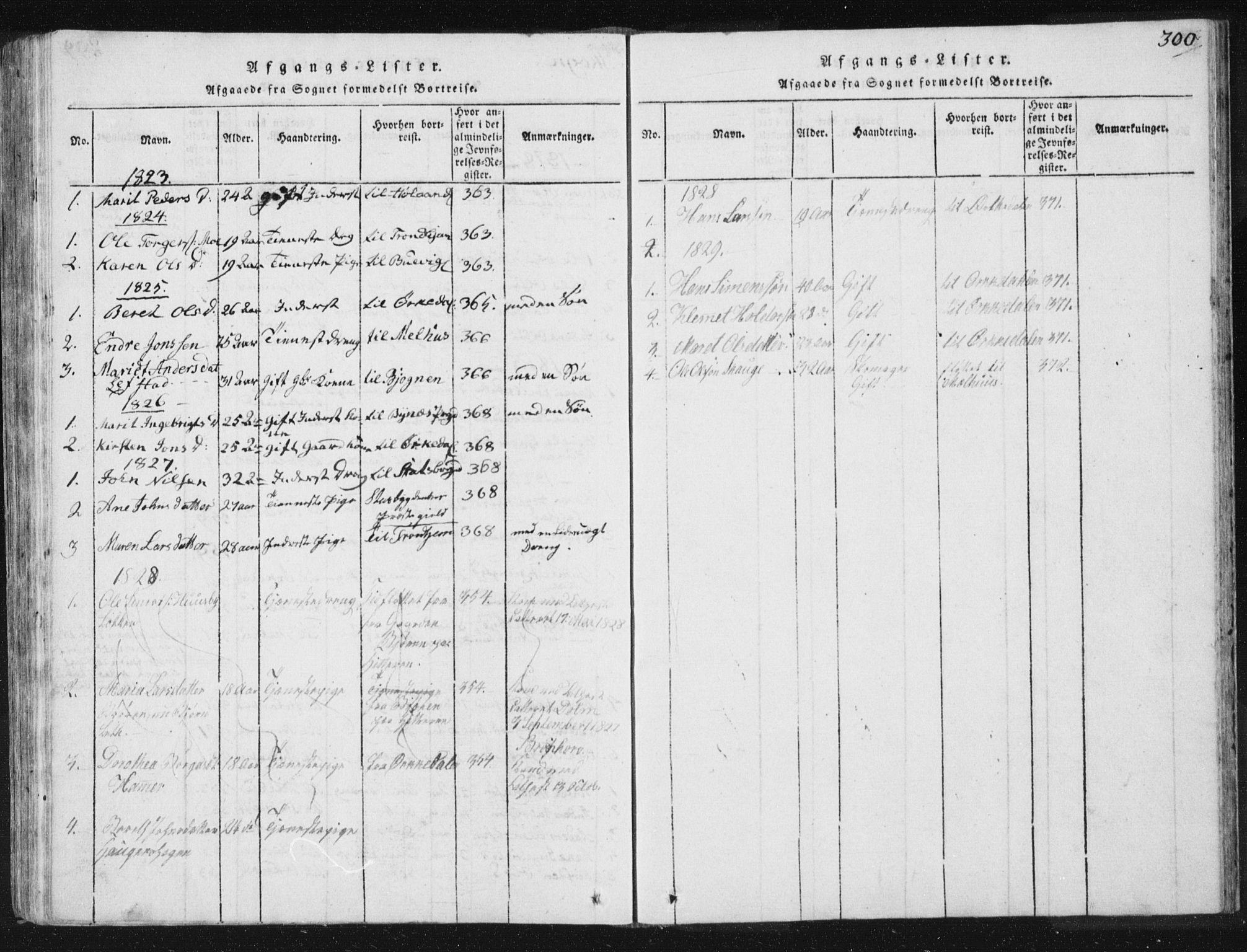 SAT, Ministerialprotokoller, klokkerbøker og fødselsregistre - Sør-Trøndelag, 665/L0770: Ministerialbok nr. 665A05, 1817-1829, s. 300