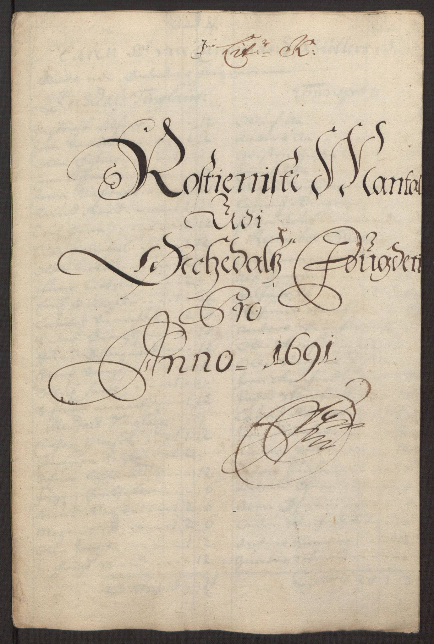 RA, Rentekammeret inntil 1814, Reviderte regnskaper, Fogderegnskap, R58/L3937: Fogderegnskap Orkdal, 1691-1692, s. 99