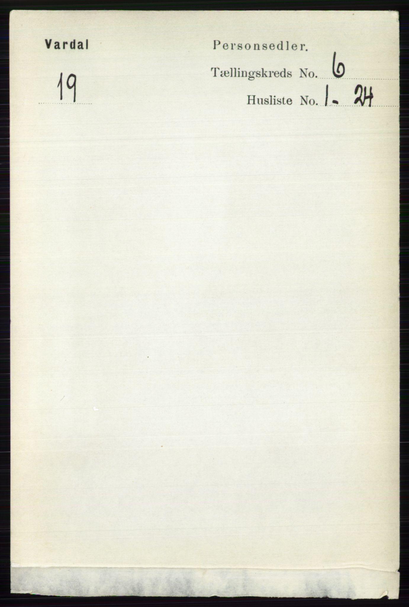 RA, Folketelling 1891 for 0527 Vardal herred, 1891, s. 2373