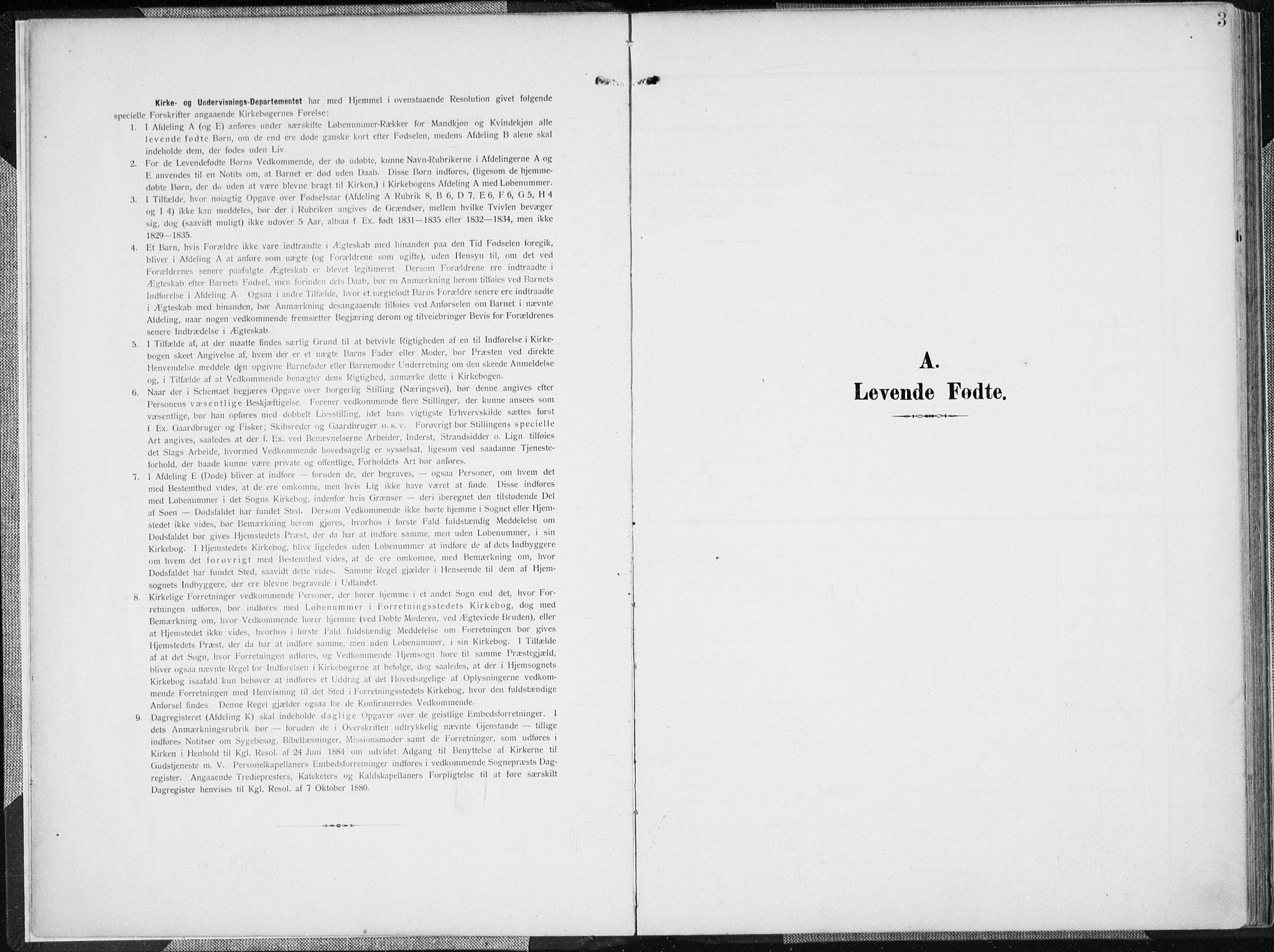 SAK, Mandal sokneprestkontor, F/Fa/Faa/L0020: Ministerialbok nr. A 20, 1906-1912, s. 3