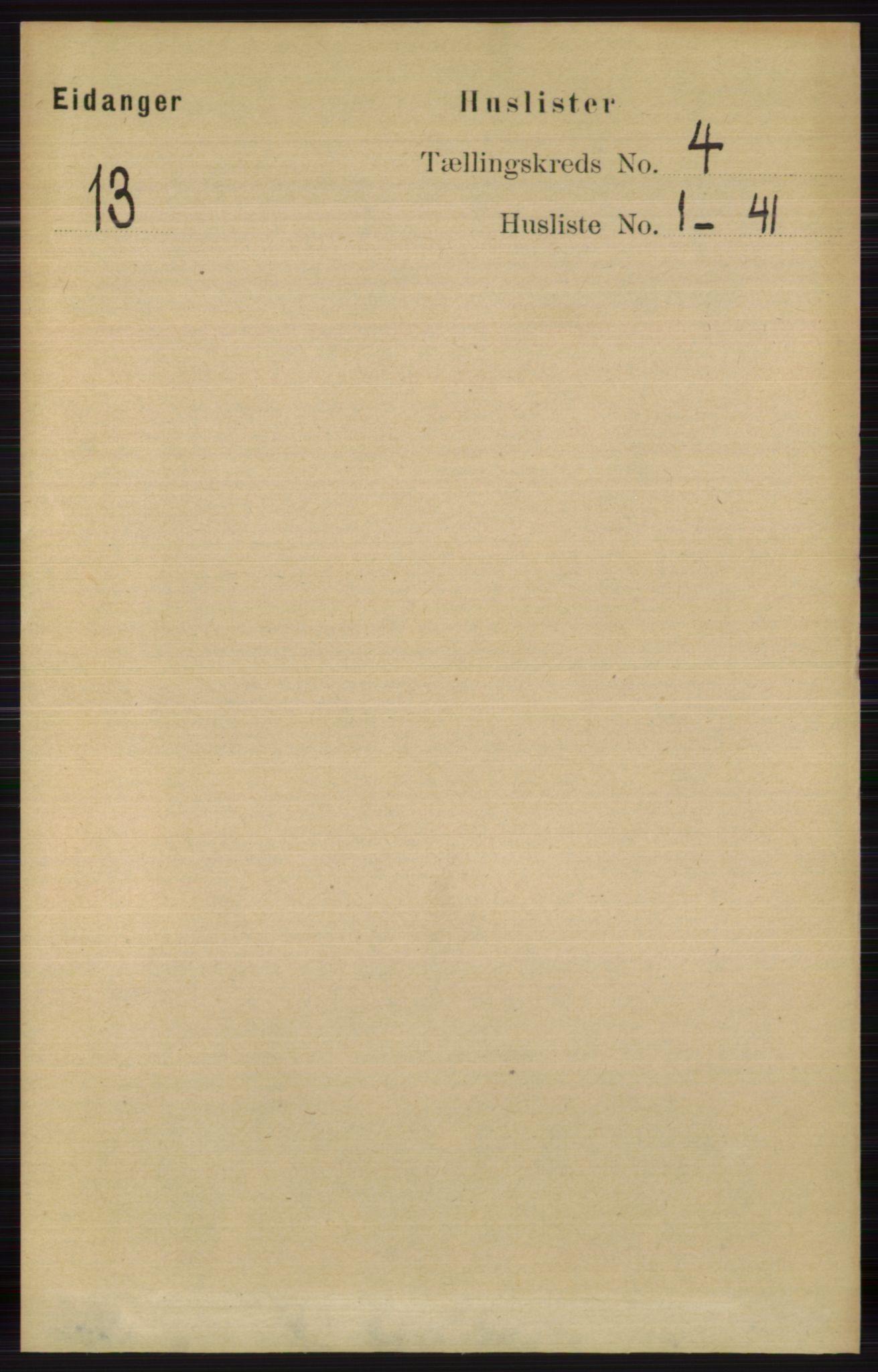 RA, Folketelling 1891 for 0813 Eidanger herred, 1891, s. 1894