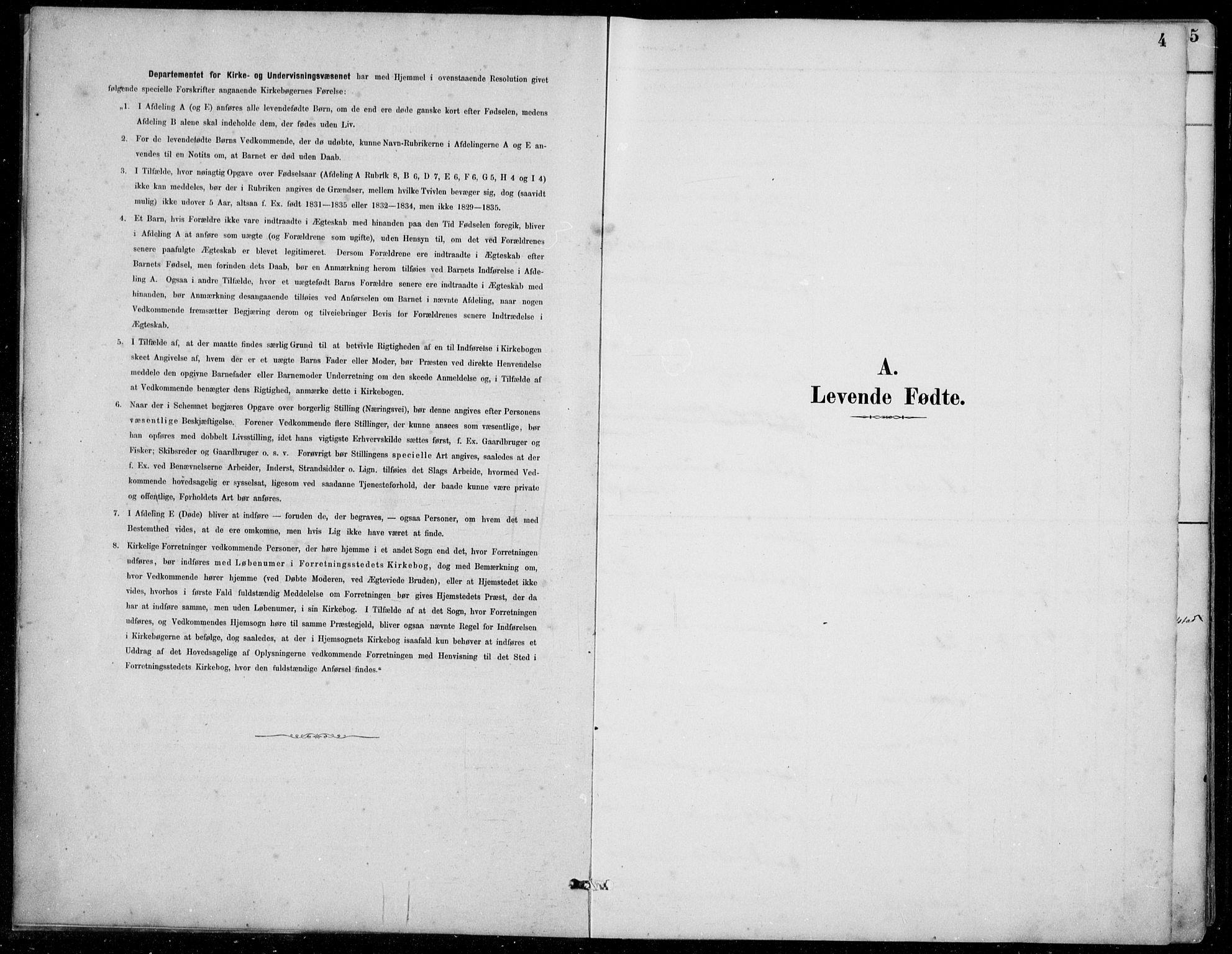 SAB, Jølster Sokneprestembete, Klokkerbok nr. B 2, 1887-1920, s. 4