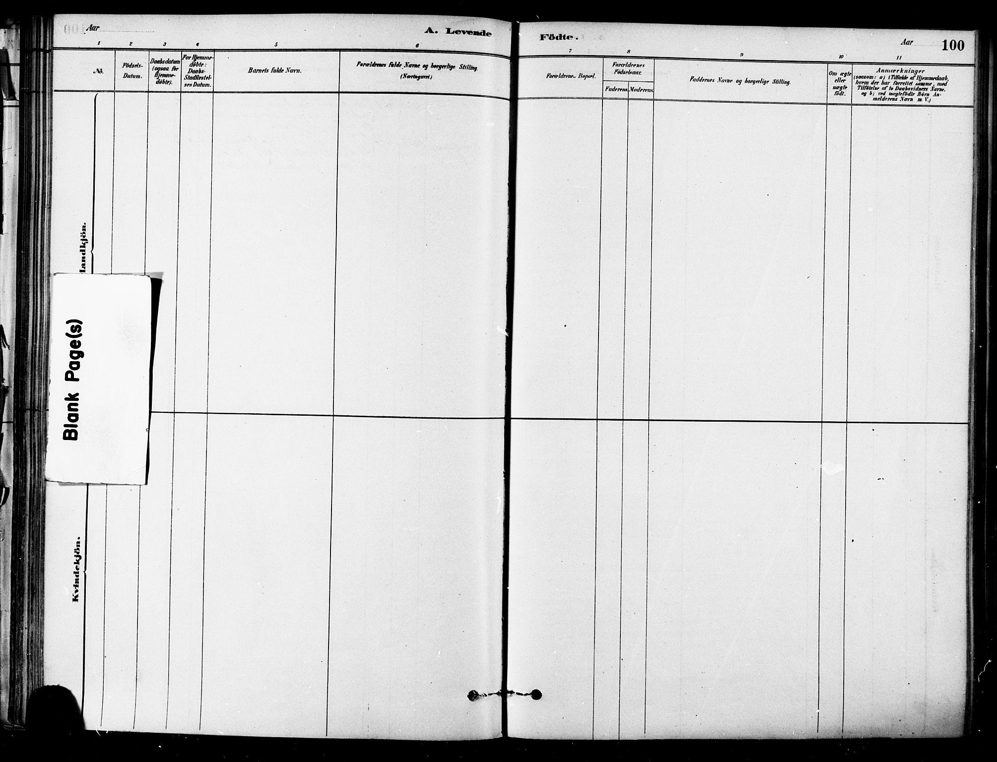 SAT, Ministerialprotokoller, klokkerbøker og fødselsregistre - Sør-Trøndelag, 657/L0707: Ministerialbok nr. 657A08, 1879-1893, s. 100