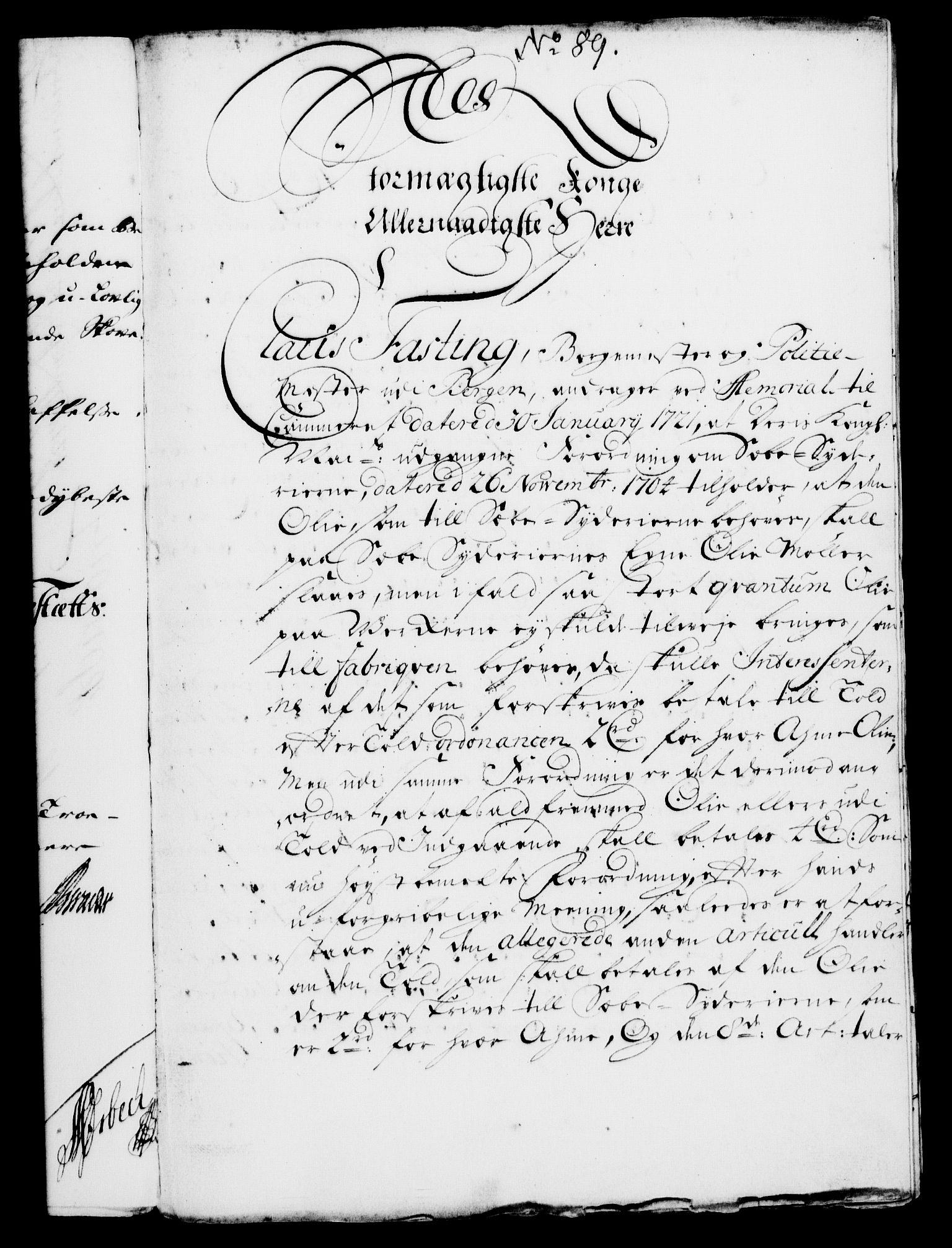 RA, Rentekammeret, Kammerkanselliet, G/Gf/Gfa/L0004: Norsk relasjons- og resolusjonsprotokoll (merket RK 52.4), 1721, s. 685