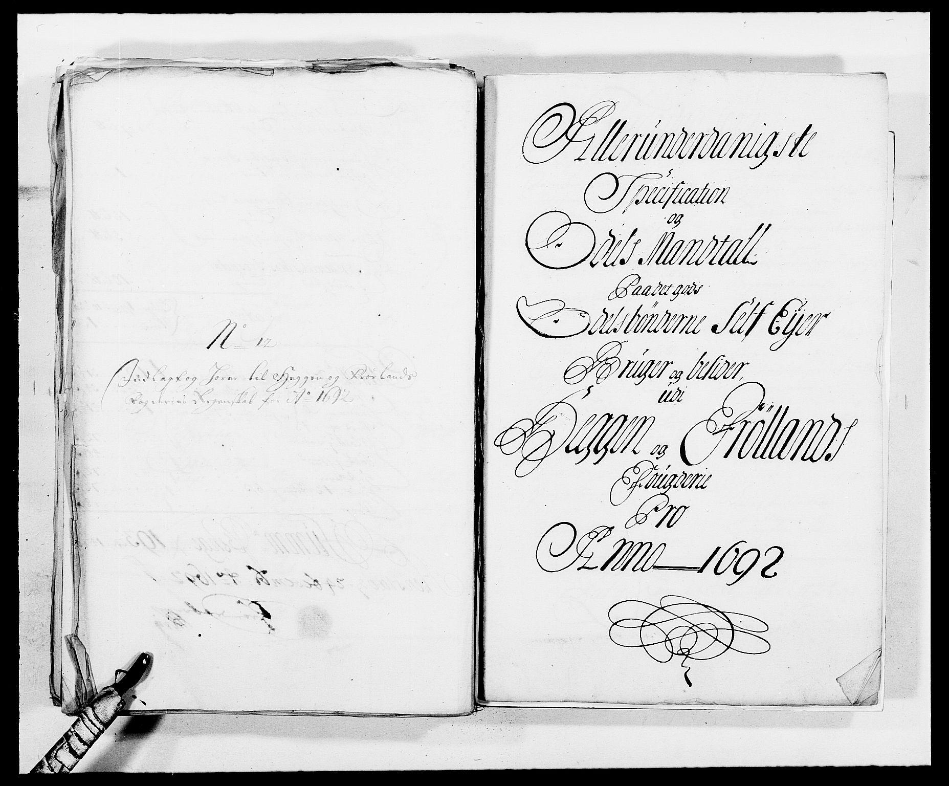 RA, Rentekammeret inntil 1814, Reviderte regnskaper, Fogderegnskap, R06/L0283: Fogderegnskap Heggen og Frøland, 1691-1693, s. 294