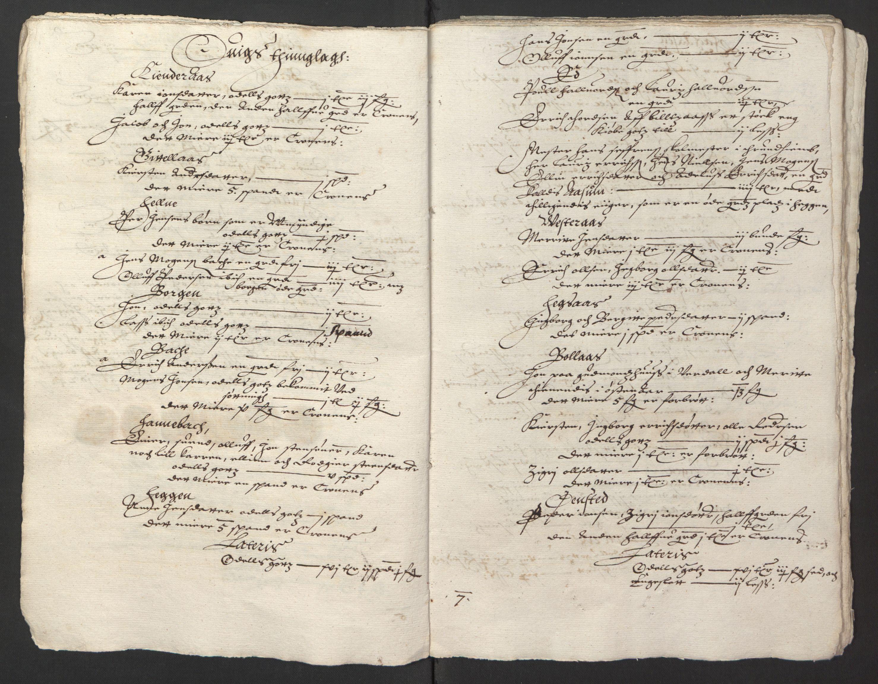 RA, Stattholderembetet 1572-1771, Ek/L0013: Jordebøker til utlikning av rosstjeneste 1624-1626:, 1624-1625, s. 102