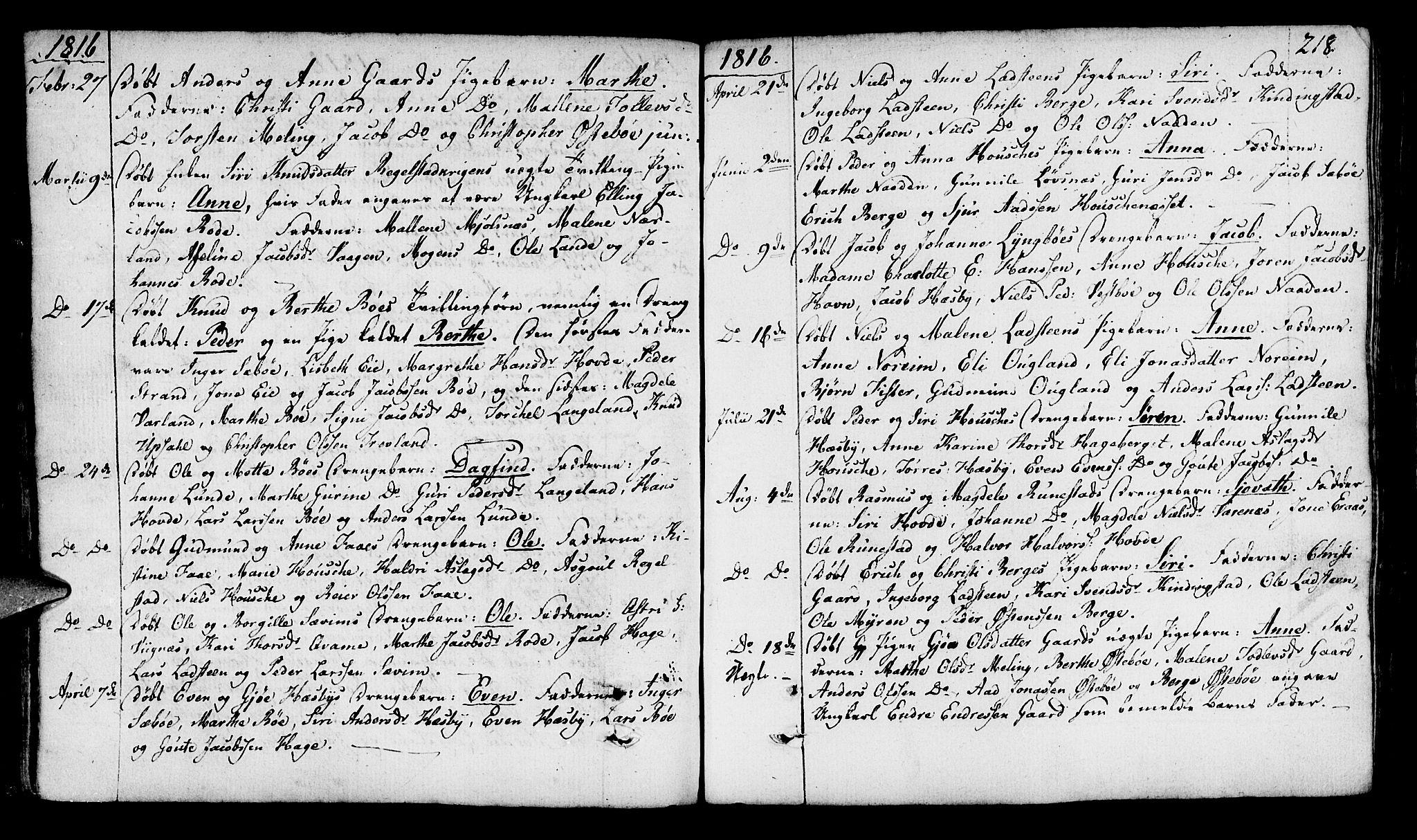SAST, Finnøy sokneprestkontor, H/Ha/Haa/L0005: Ministerialbok nr. A 5, 1773-1816, s. 218