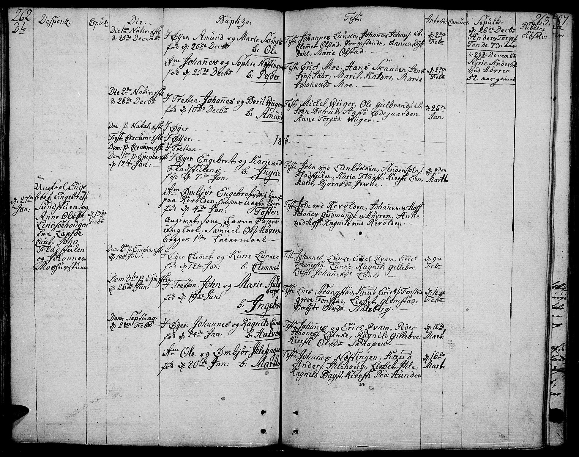SAH, Øyer prestekontor, Ministerialbok nr. 3, 1784-1824, s. 262-263