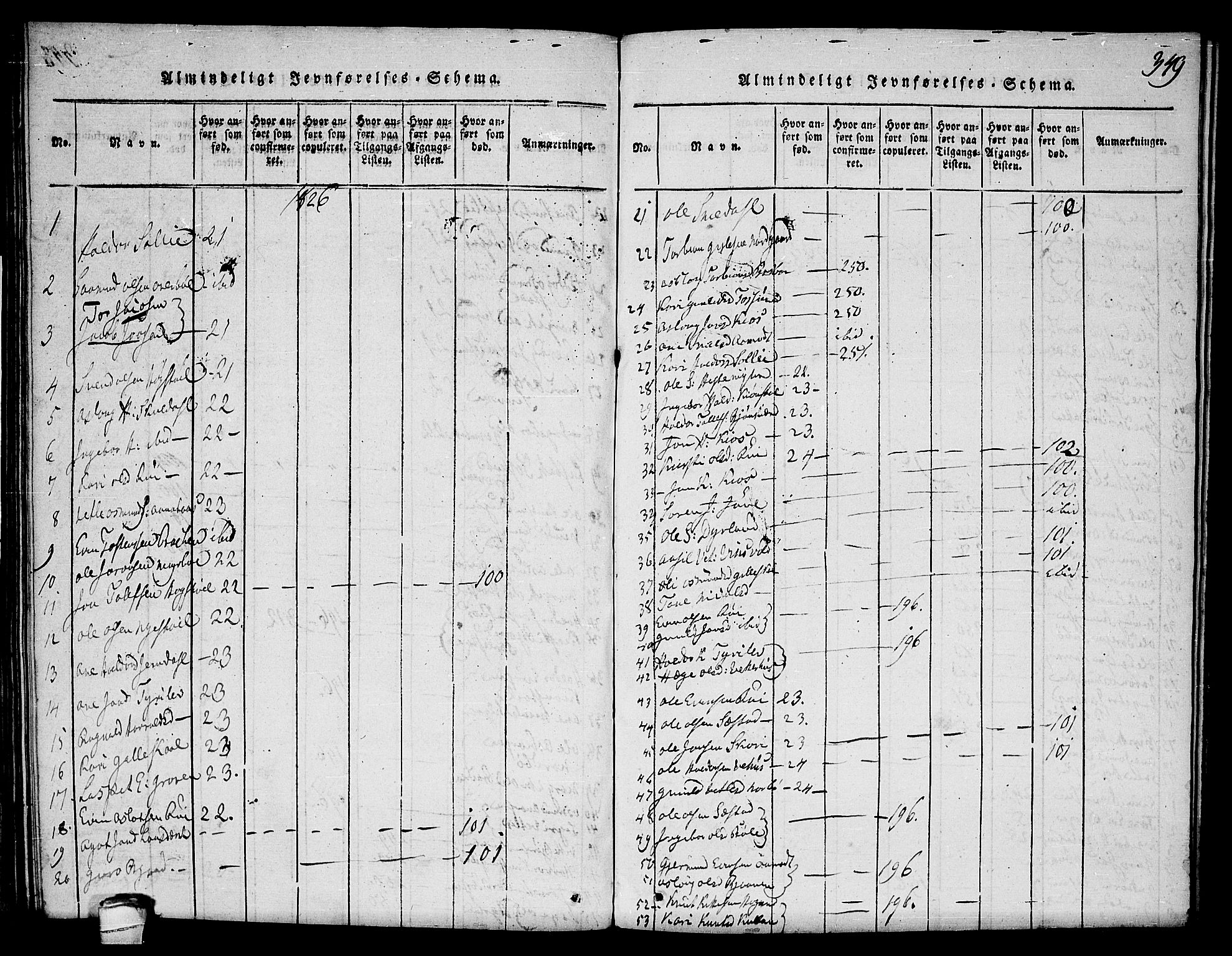 SAKO, Seljord kirkebøker, F/Fc/L0001: Ministerialbok nr. III 1, 1815-1831, s. 349