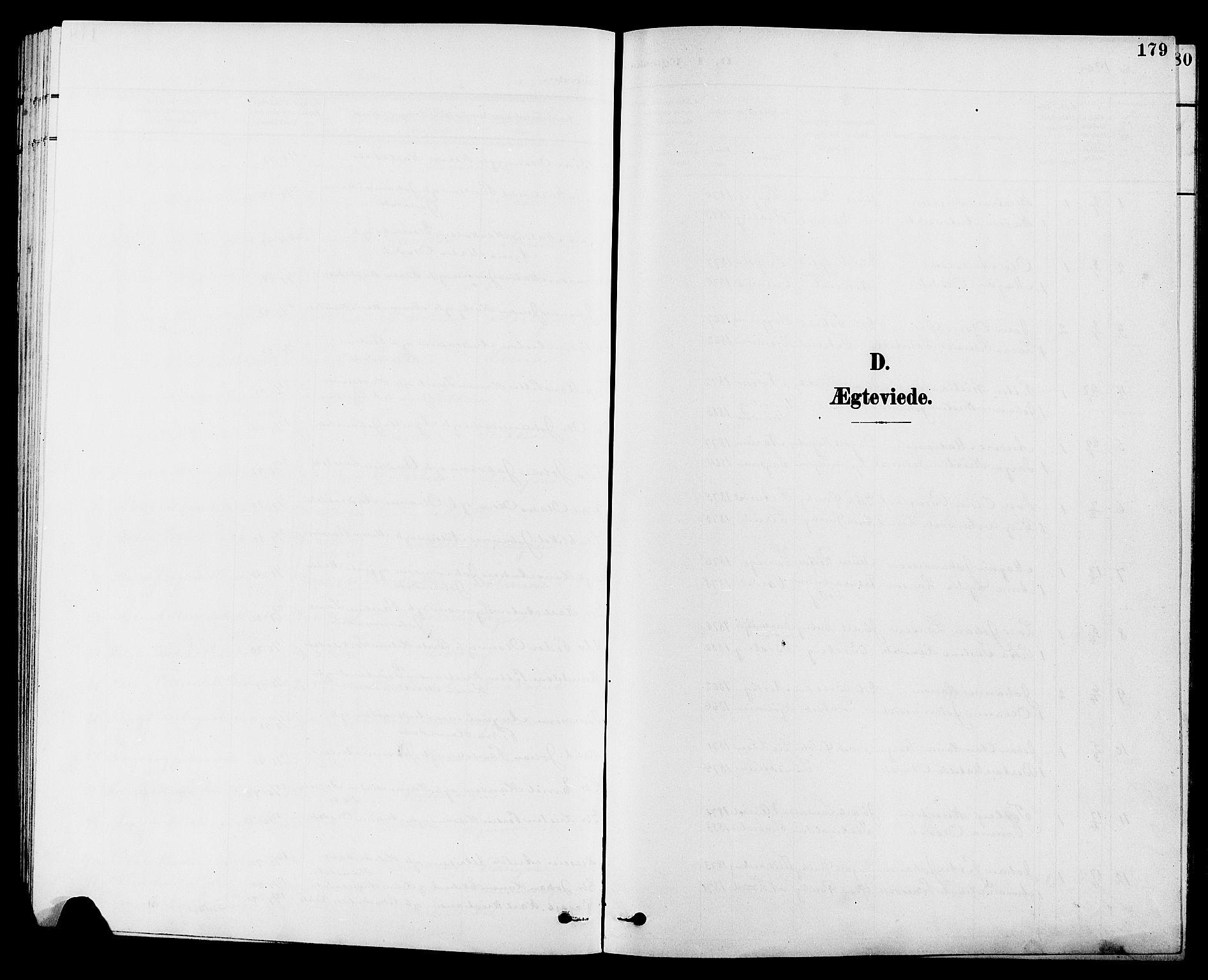 SAH, Vestre Toten prestekontor, H/Ha/Hab/L0010: Klokkerbok nr. 10, 1900-1912, s. 179