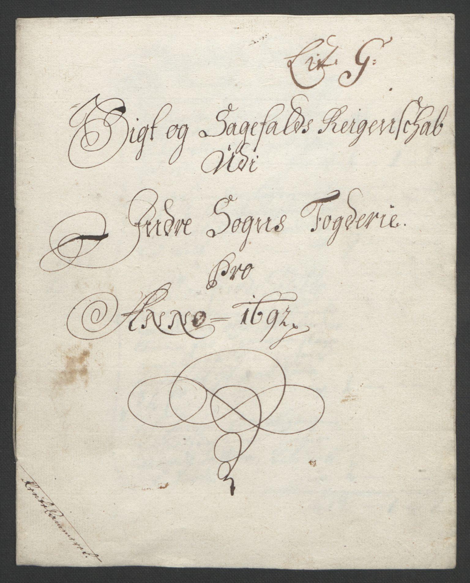 RA, Rentekammeret inntil 1814, Reviderte regnskaper, Fogderegnskap, R52/L3306: Fogderegnskap Sogn, 1691-1692, s. 224