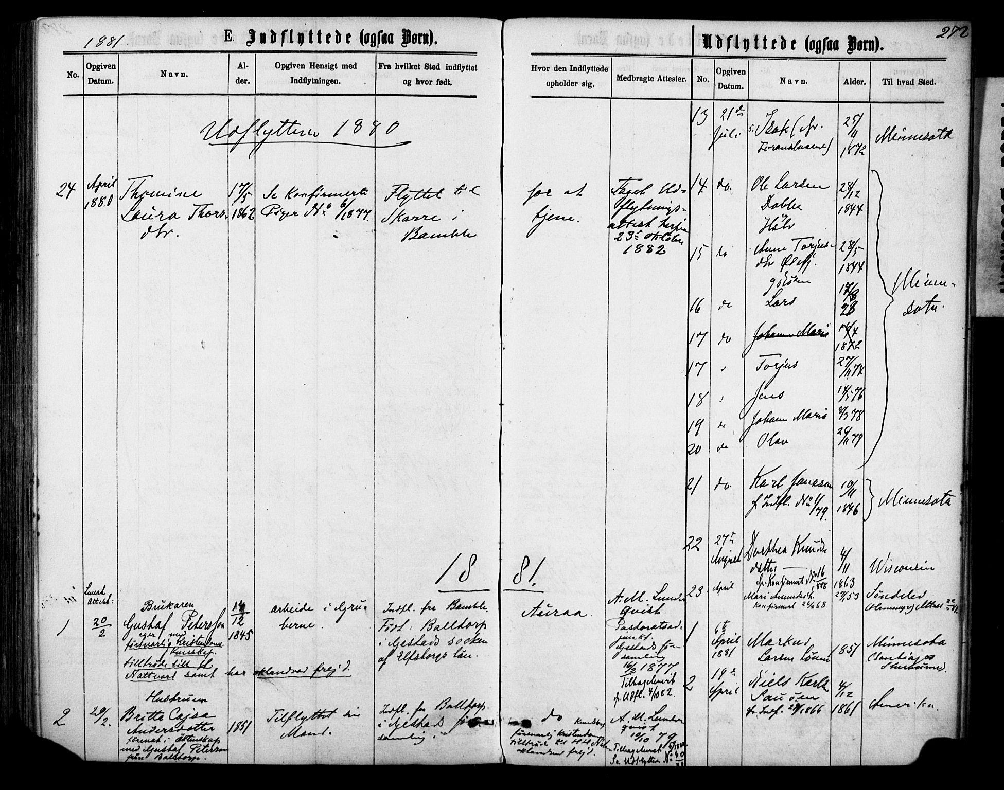 SAKO, Sannidal kirkebøker, F/Fa/L0014: Ministerialbok nr. 14, 1874-1883, s. 272