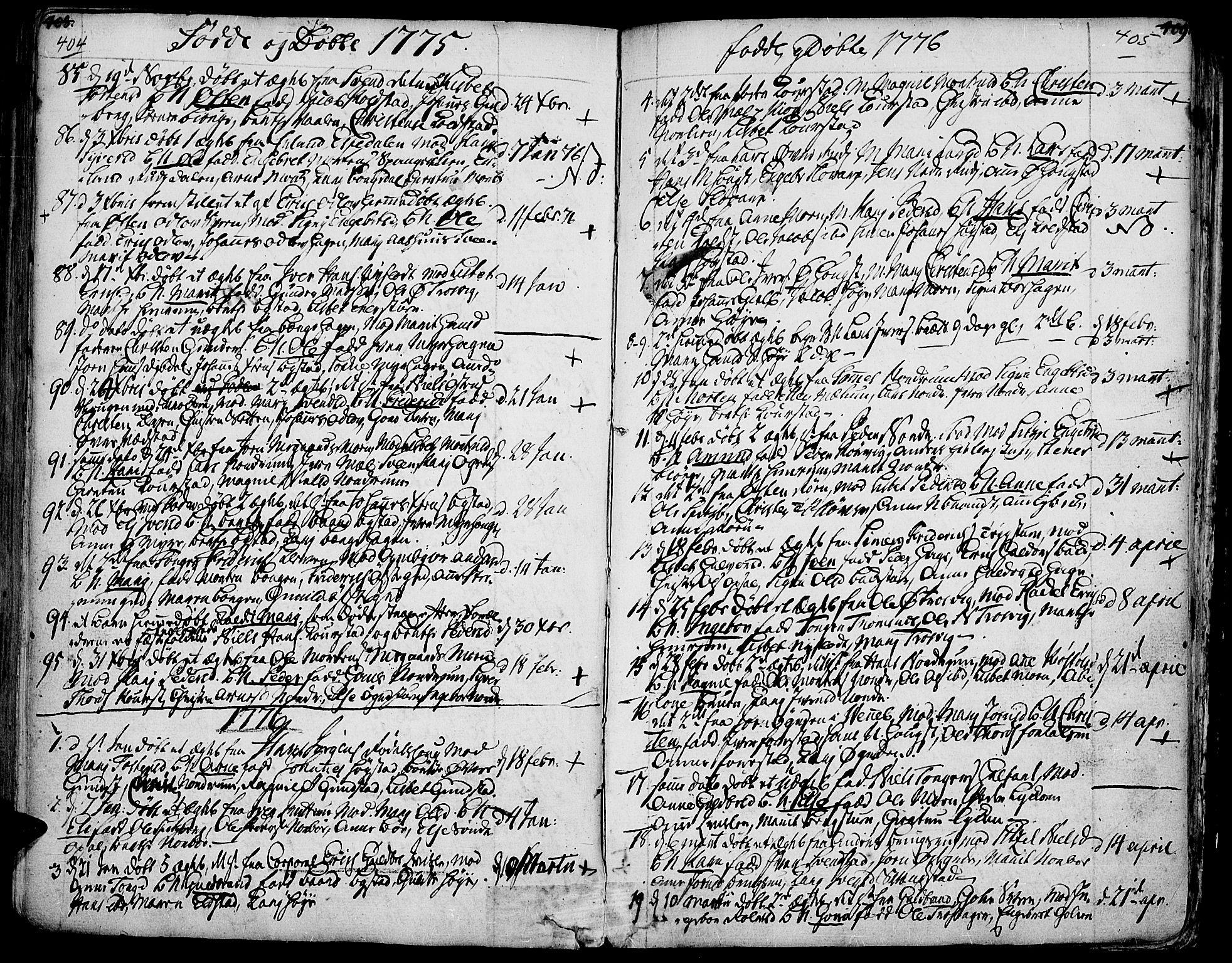 SAH, Ringebu prestekontor, Ministerialbok nr. 2, 1734-1780, s. 404-405