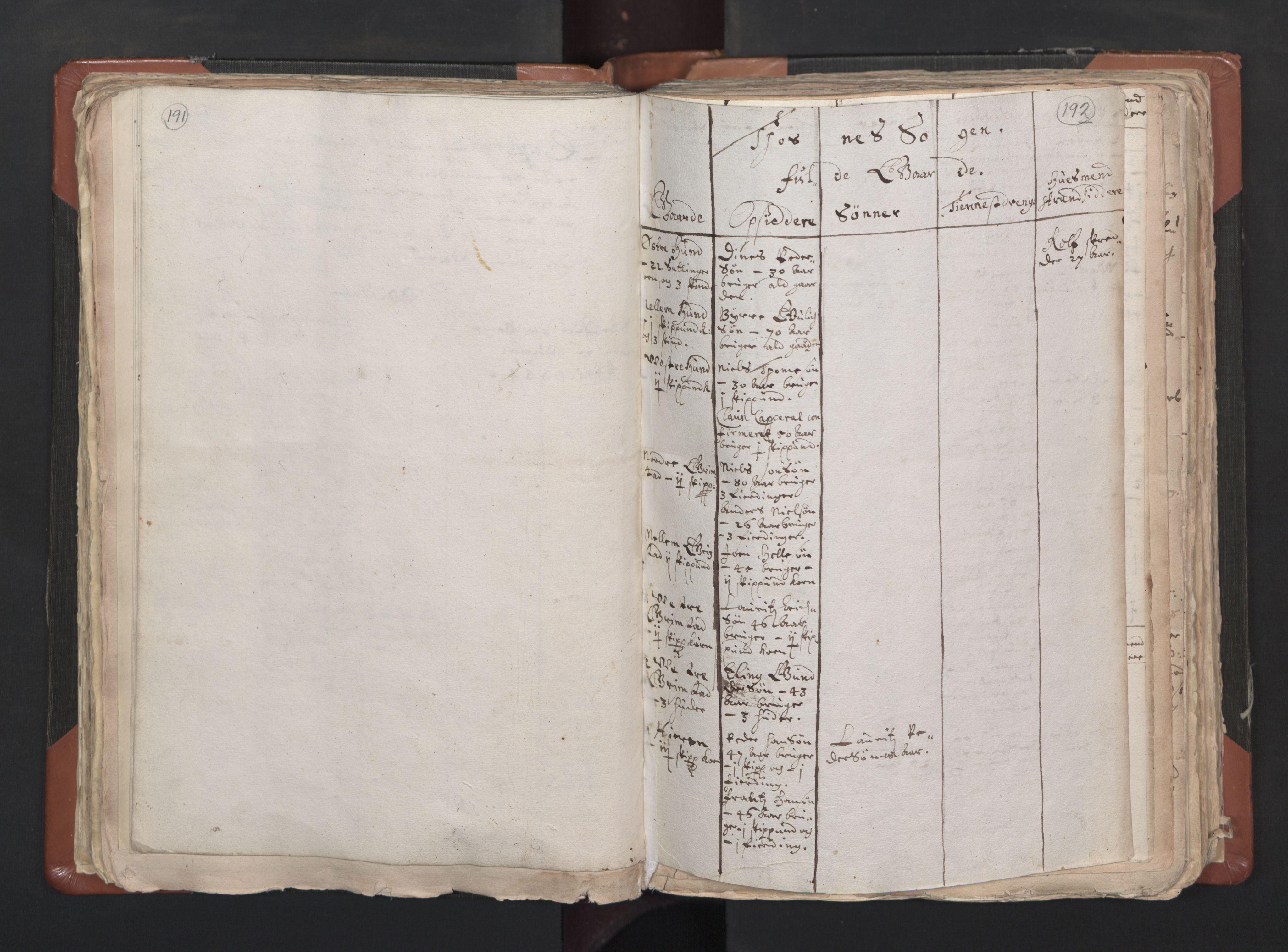 RA, Sogneprestenes manntall 1664-1666, nr. 1: Nedre Borgesyssel prosti, 1664-1666, s. 191-192