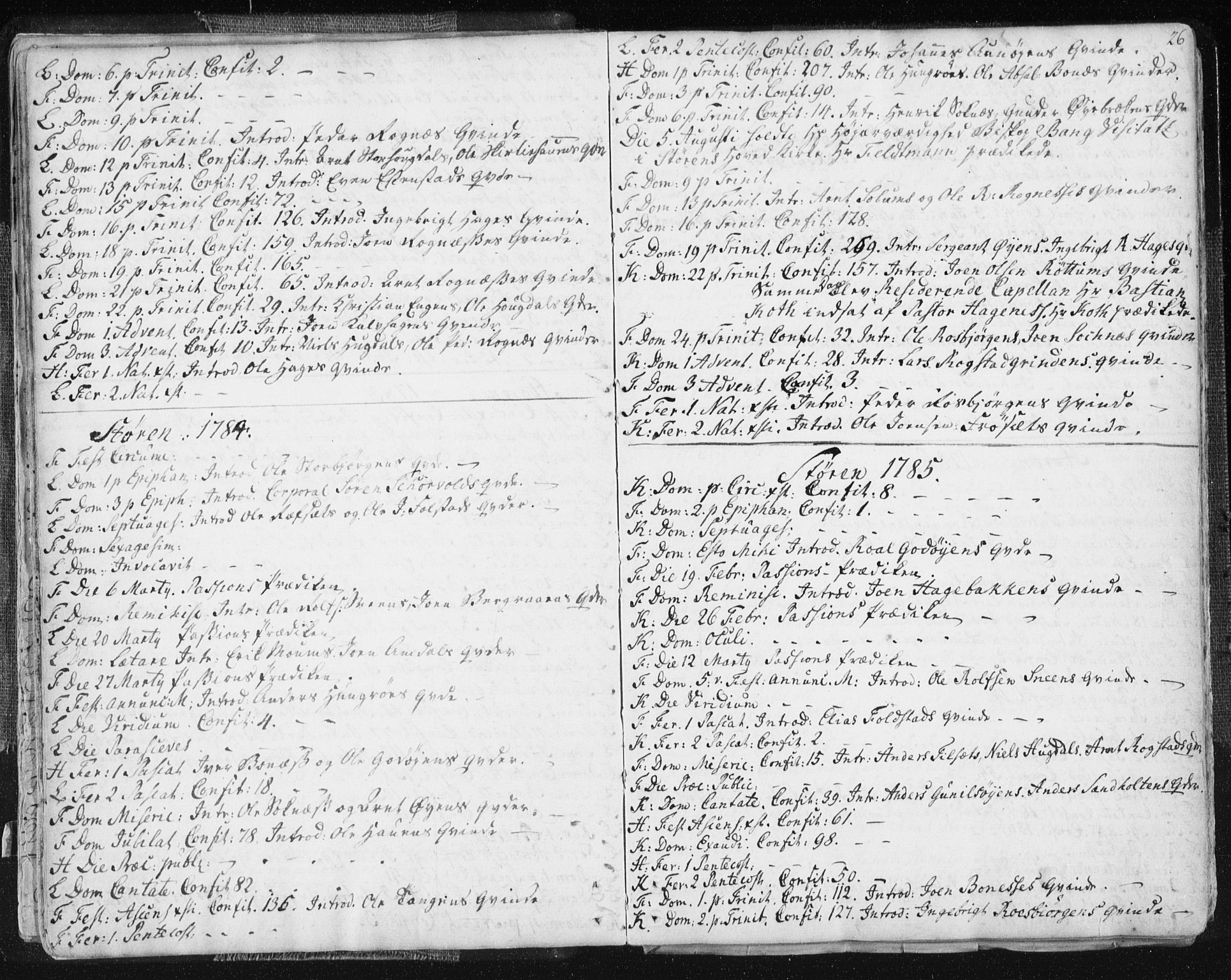SAT, Ministerialprotokoller, klokkerbøker og fødselsregistre - Sør-Trøndelag, 687/L0991: Ministerialbok nr. 687A02, 1747-1790, s. 26