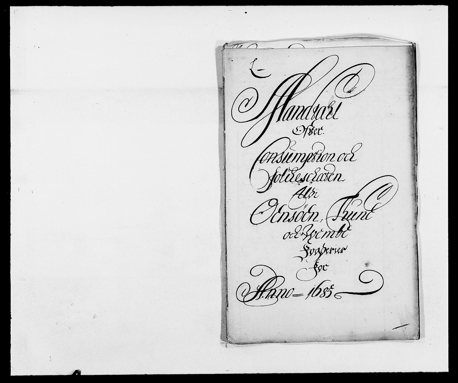 RA, Rentekammeret inntil 1814, Reviderte regnskaper, Fogderegnskap, R03/L0116: Fogderegnskap Onsøy, Tune, Veme og Åbygge fogderi, 1684-1689, s. 120