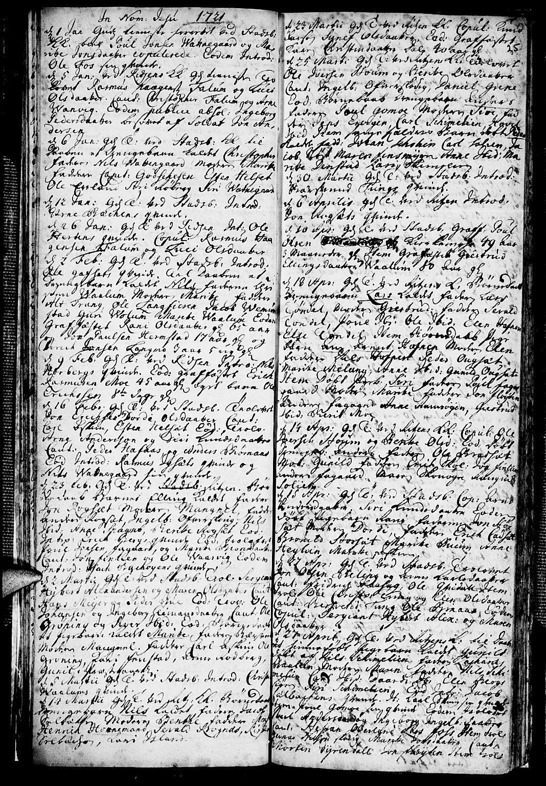 SAT, Ministerialprotokoller, klokkerbøker og fødselsregistre - Sør-Trøndelag, 646/L0603: Ministerialbok nr. 646A01, 1700-1734, s. 25
