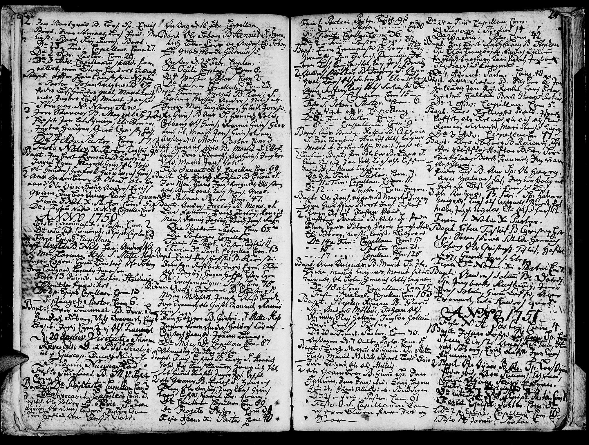 SAT, Ministerialprotokoller, klokkerbøker og fødselsregistre - Sør-Trøndelag, 691/L1057: Ministerialbok nr. 691A01 /1, 1740-1767, s. 24