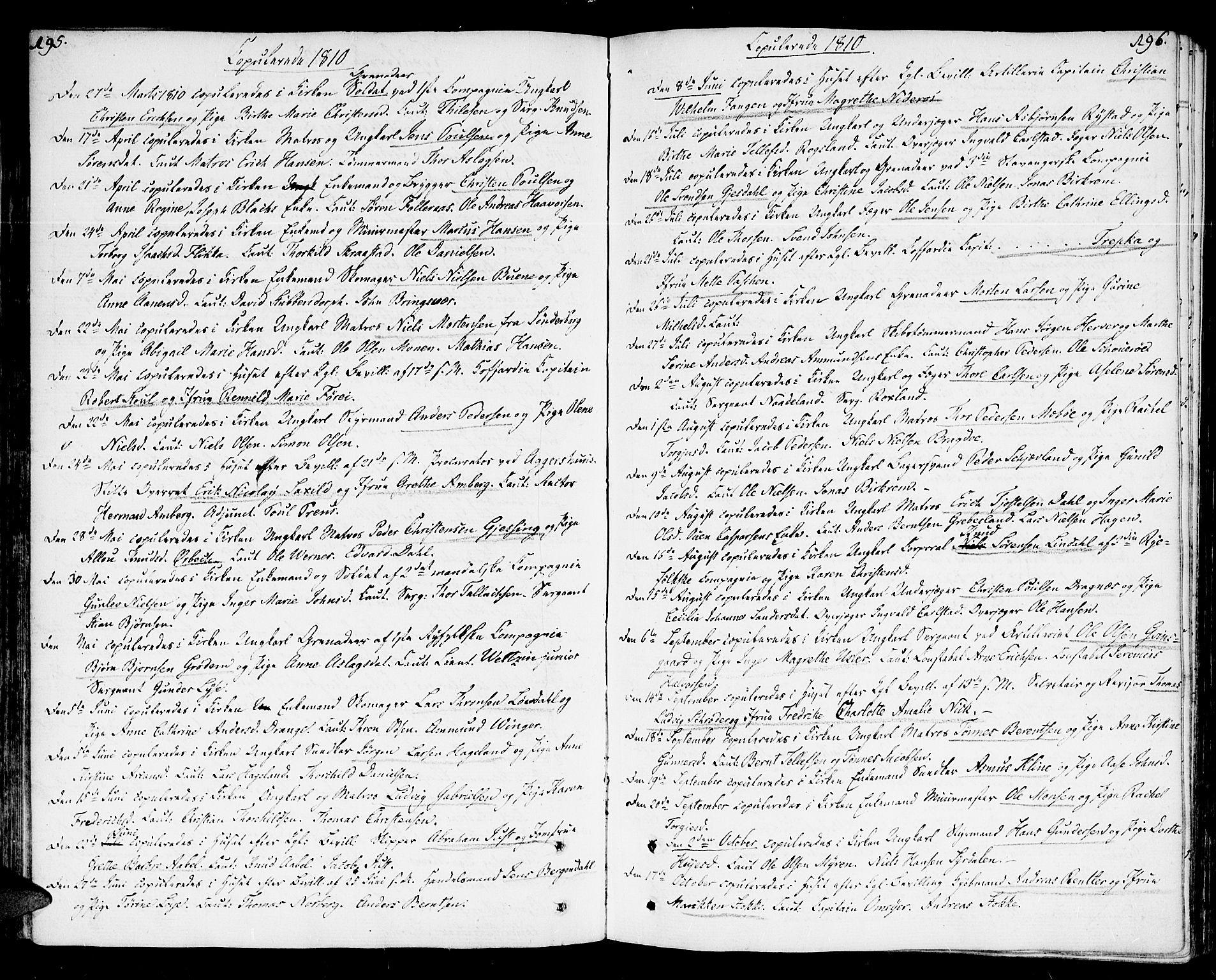 SAK, Kristiansand domprosti, F/Fa/L0005: Ministerialbok nr. A 5, 1776-1818, s. 195-196