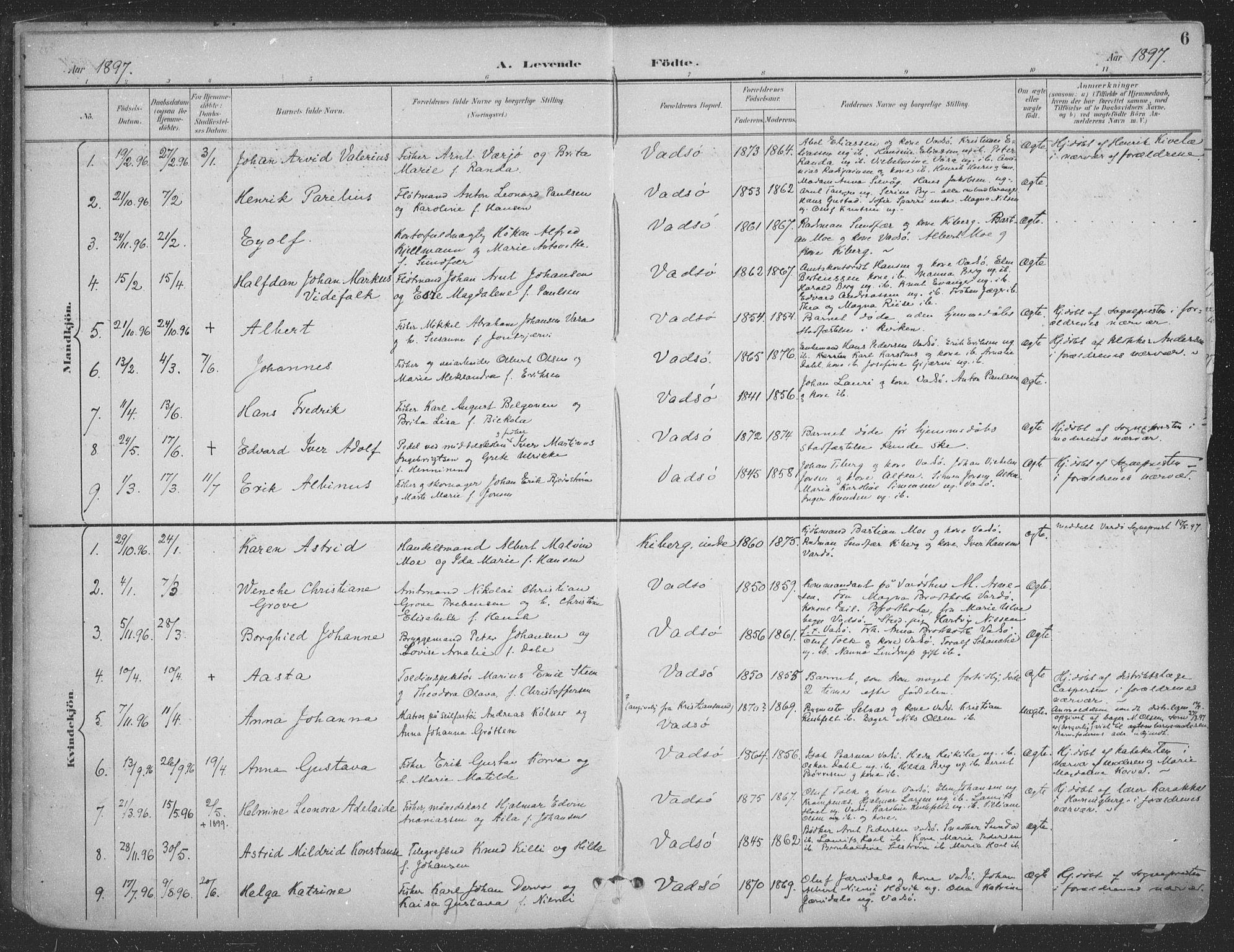 SATØ, Vadsø sokneprestkontor, H/Ha/L0007kirke: Ministerialbok nr. 7, 1896-1916, s. 6
