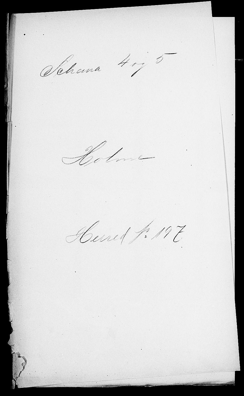 SAK, Folketelling 1900 for 1020 Holum herred, 1900, s. 1