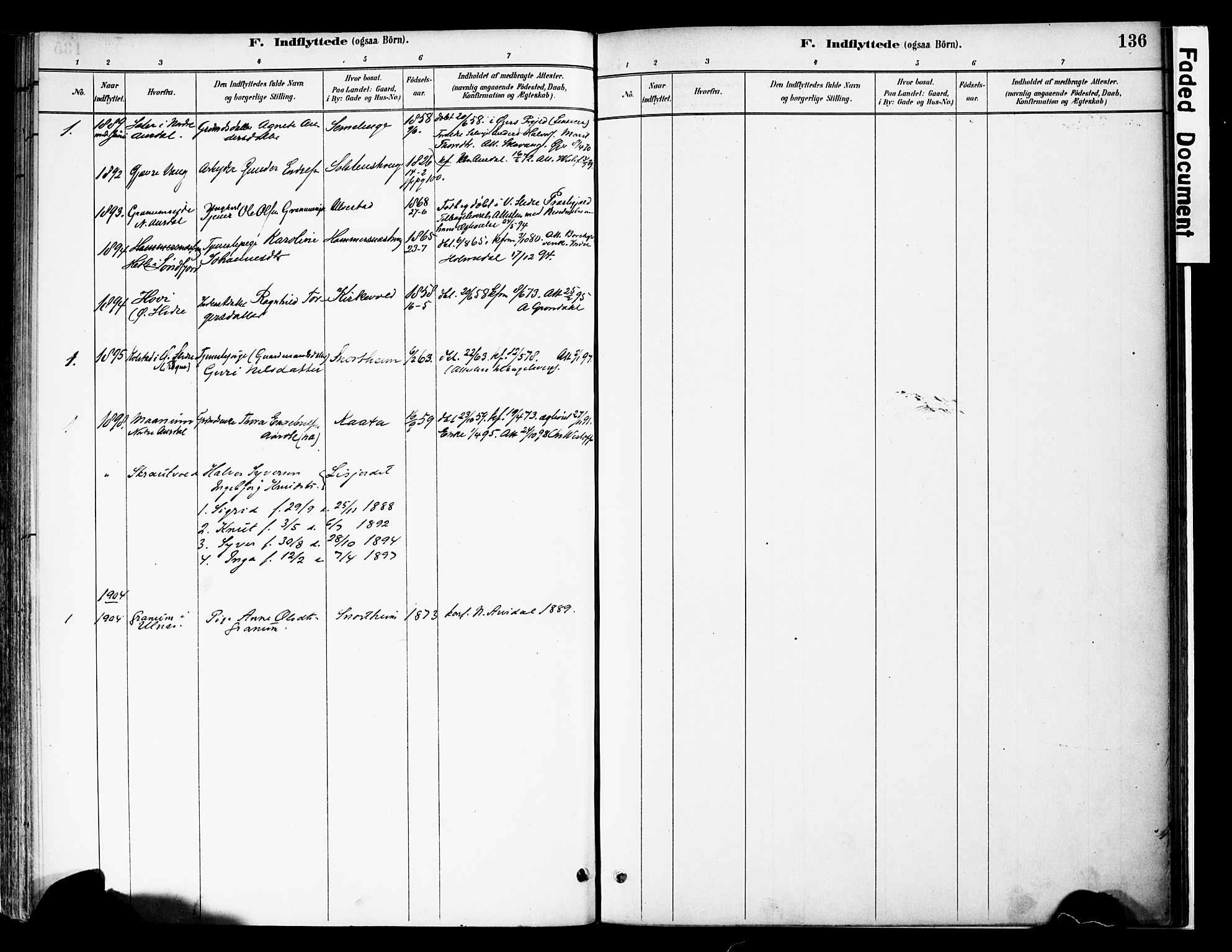 SAH, Vestre Slidre prestekontor, Ministerialbok nr. 6, 1881-1912, s. 136