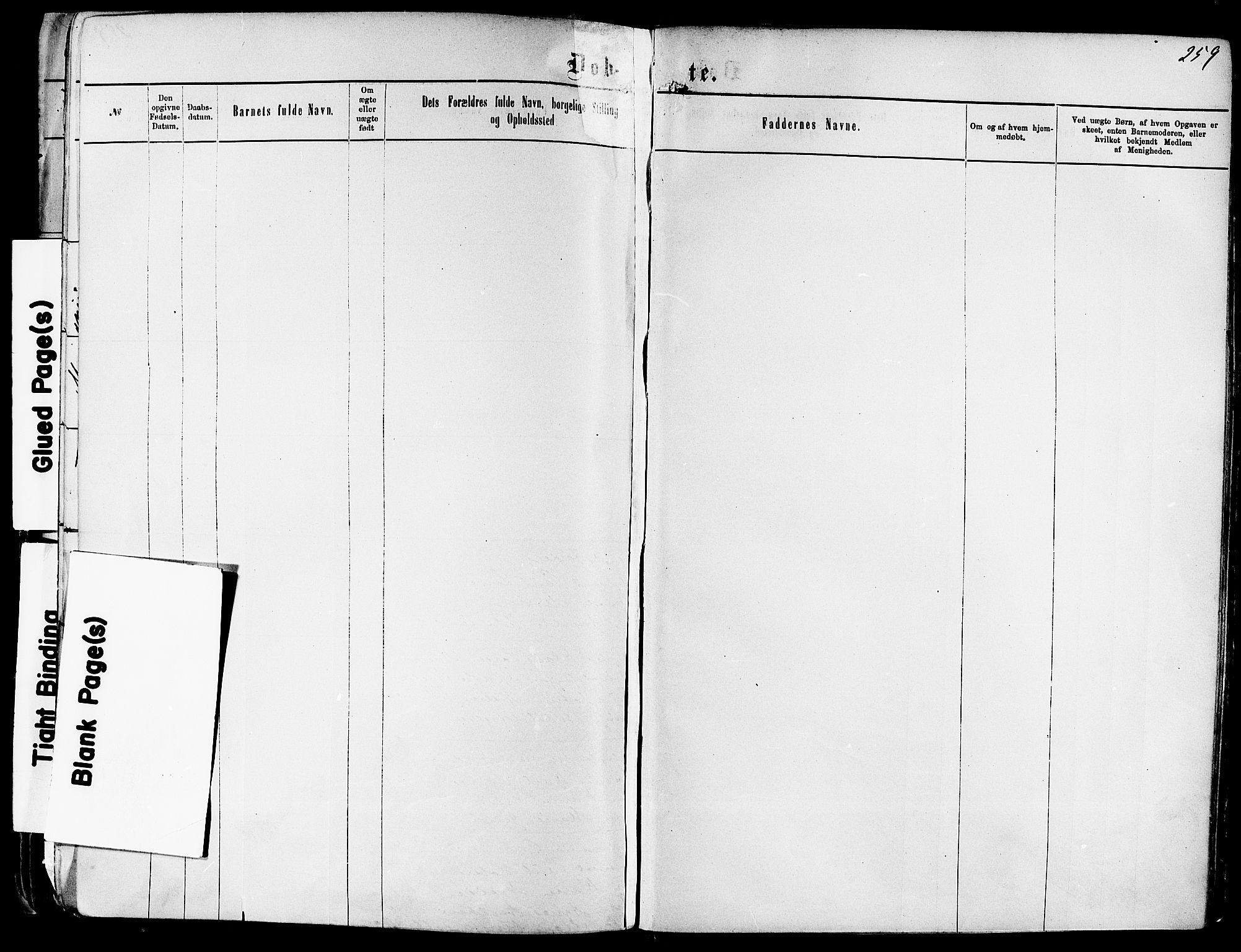 SAKO, Kragerø kirkebøker, F/Fa/L0011: Ministerialbok nr. 11, 1875-1886, s. 259