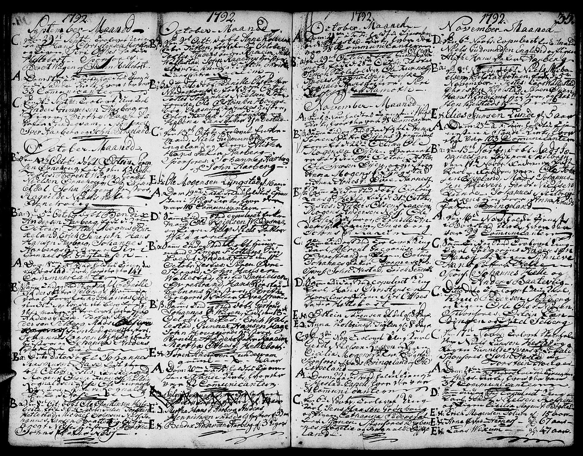 SAB, Gaular sokneprestembete, H/Haa: Ministerialbok nr. A 2, 1785-1821, s. 35