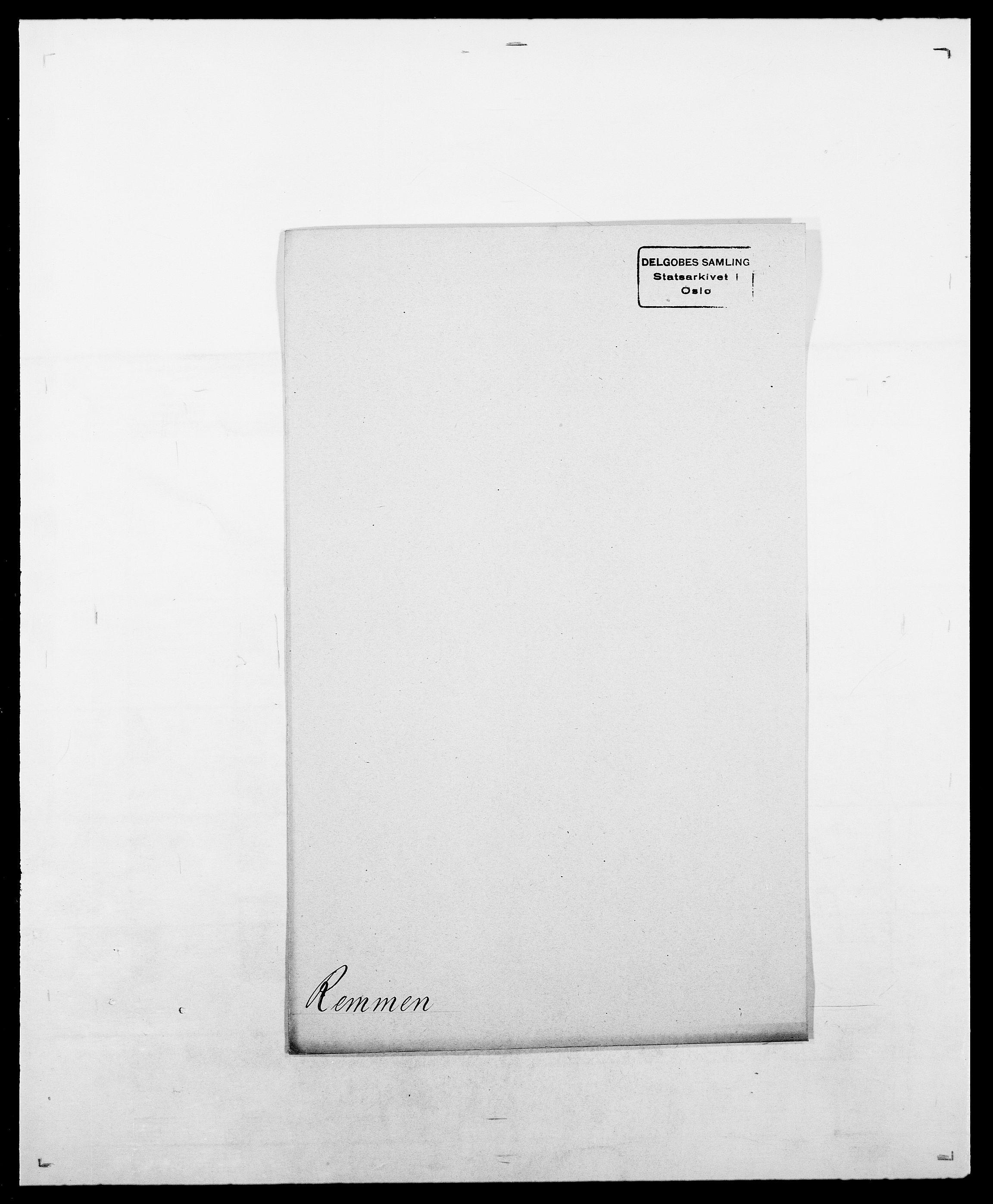SAO, Delgobe, Charles Antoine - samling, D/Da/L0032: Rabakovsky - Rivertz, s. 409