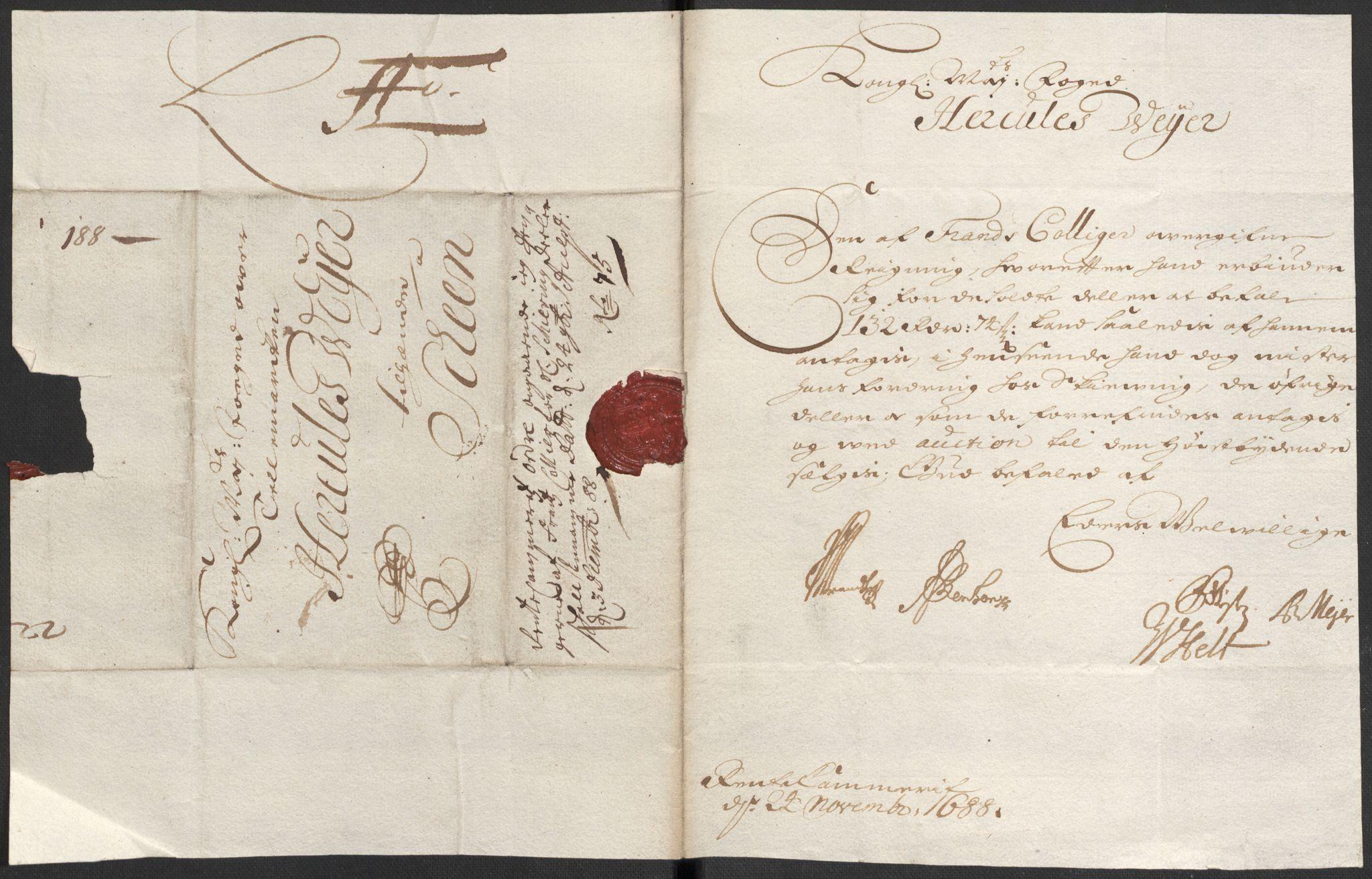 RA, Rentekammeret inntil 1814, Reviderte regnskaper, Fogderegnskap, R35/L2087: Fogderegnskap Øvre og Nedre Telemark, 1687-1689, s. 409